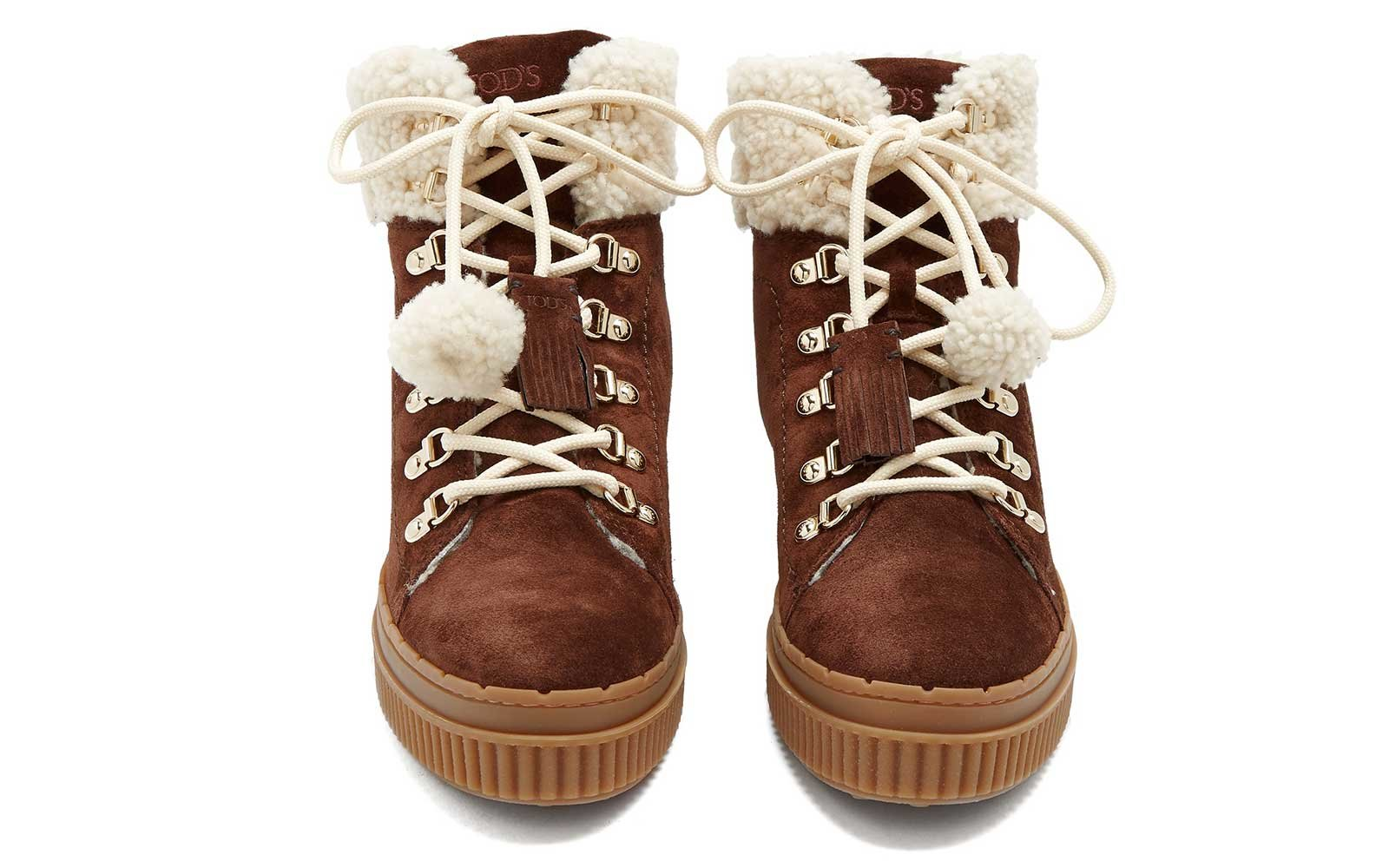 Shearling-lined boots by Tod's