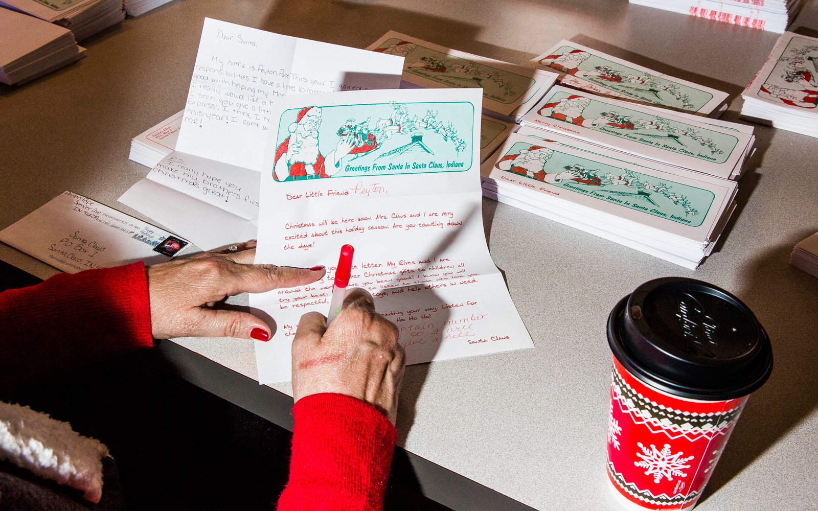 This adorably festive town in indiana is where all your letters to volunteer elf responds to santas letters spiritdancerdesigns Choice Image