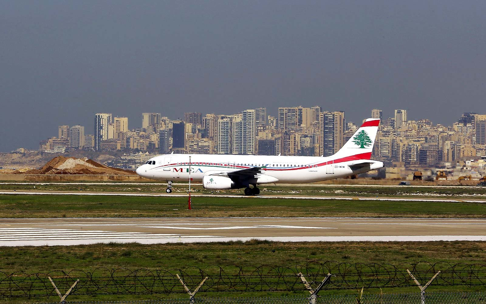 Beirut Lebanon Airport Flight Airplane Middle East