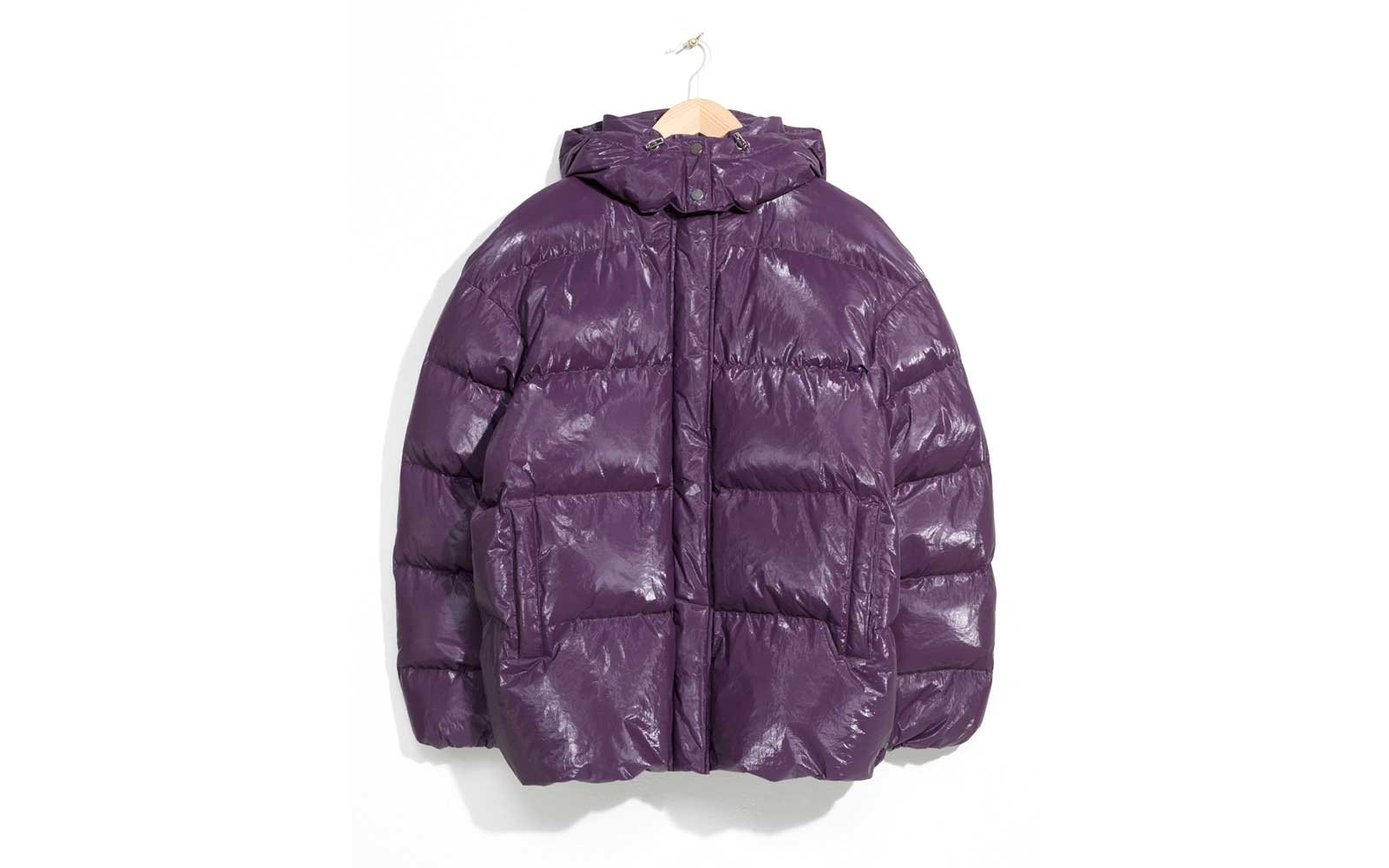 Purple puffer coat by &Other Stories