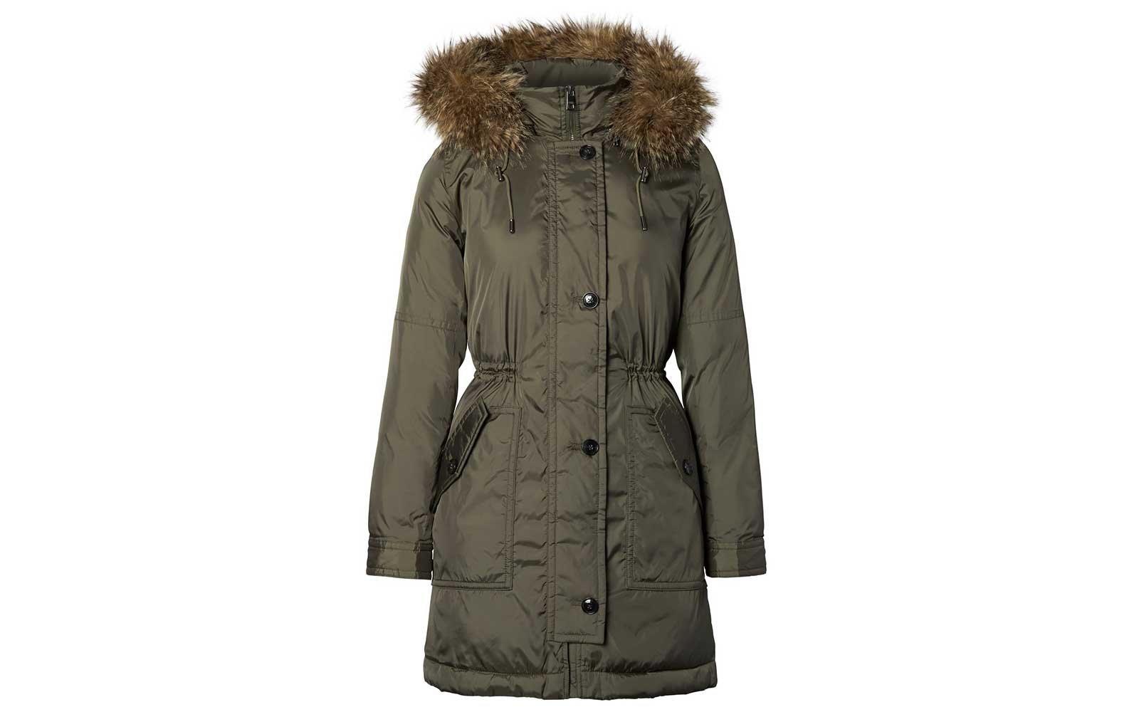 Fur trimmed parka by Banana Republic