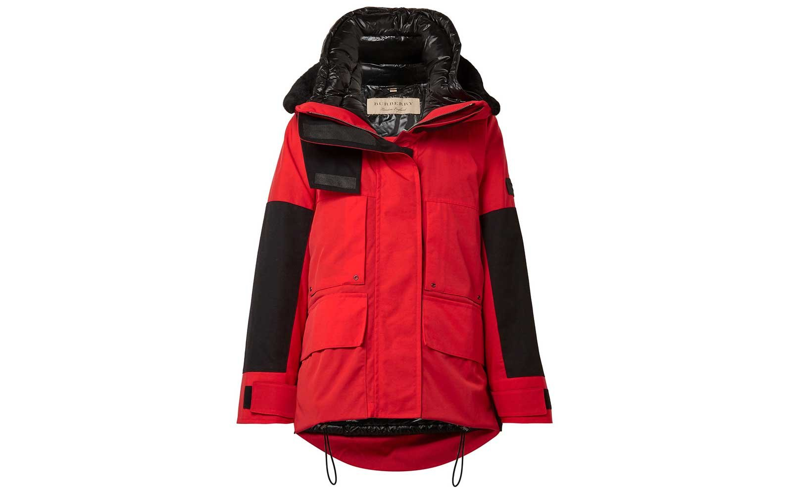 Red utility parka from Burberry