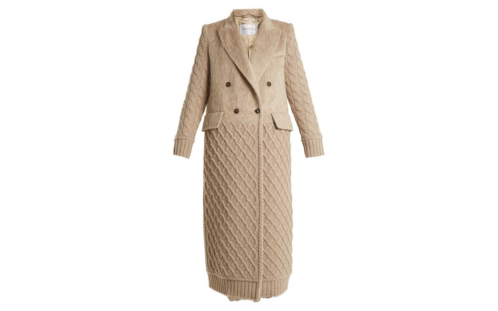 MaxMara camel knit coat