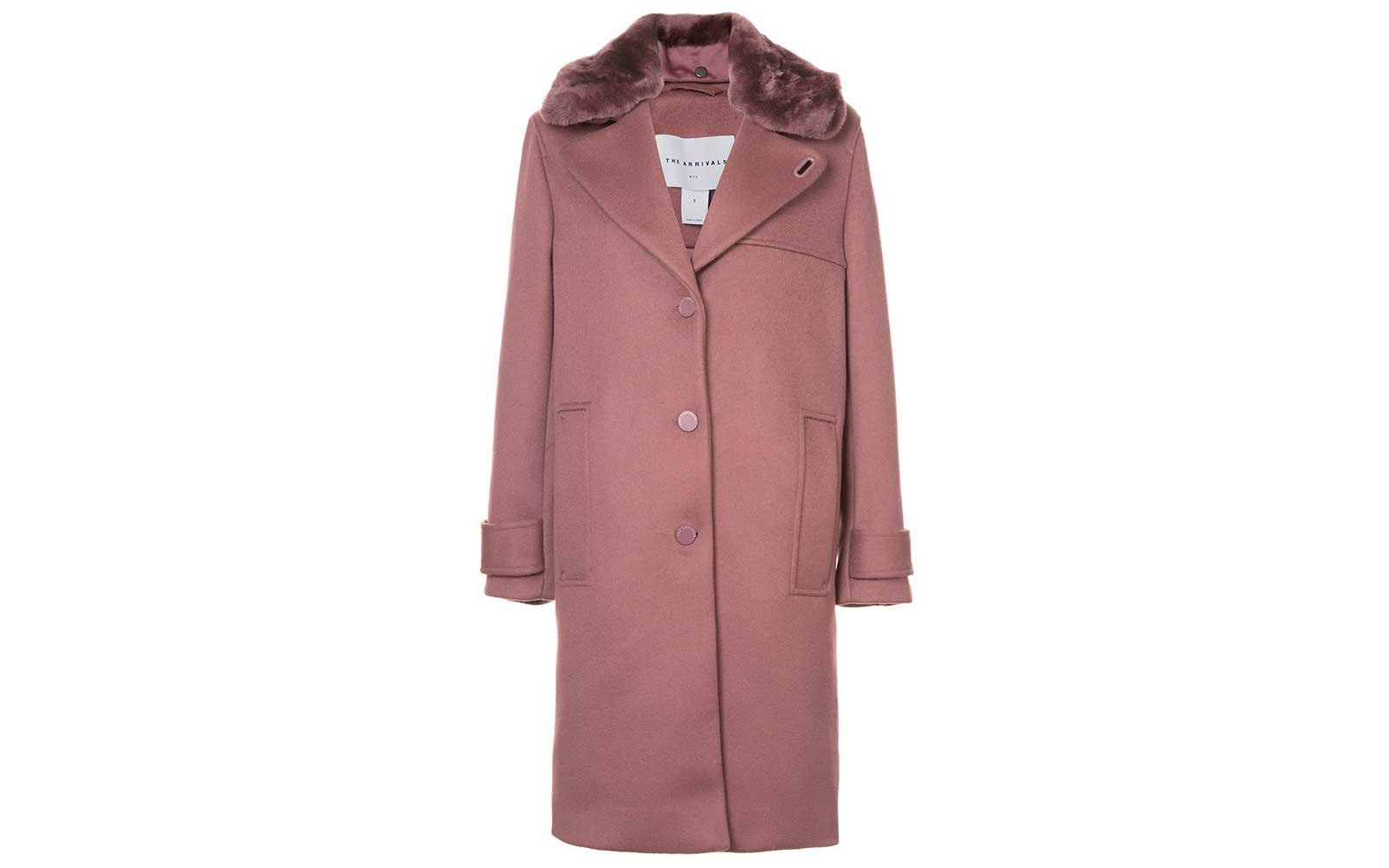 Rose colored coat from The Arrivals