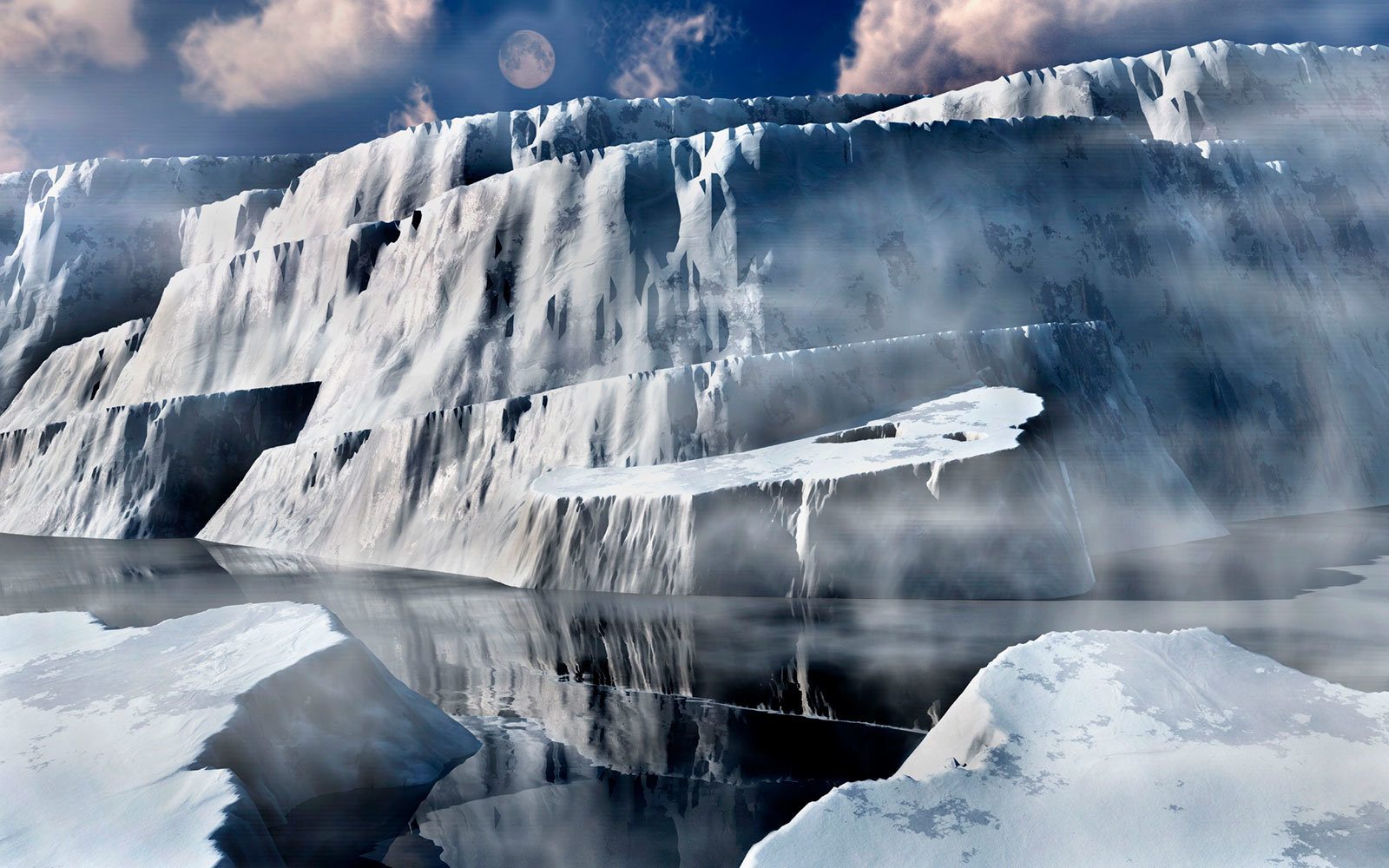 Frozen Wall, Ice and Snow
