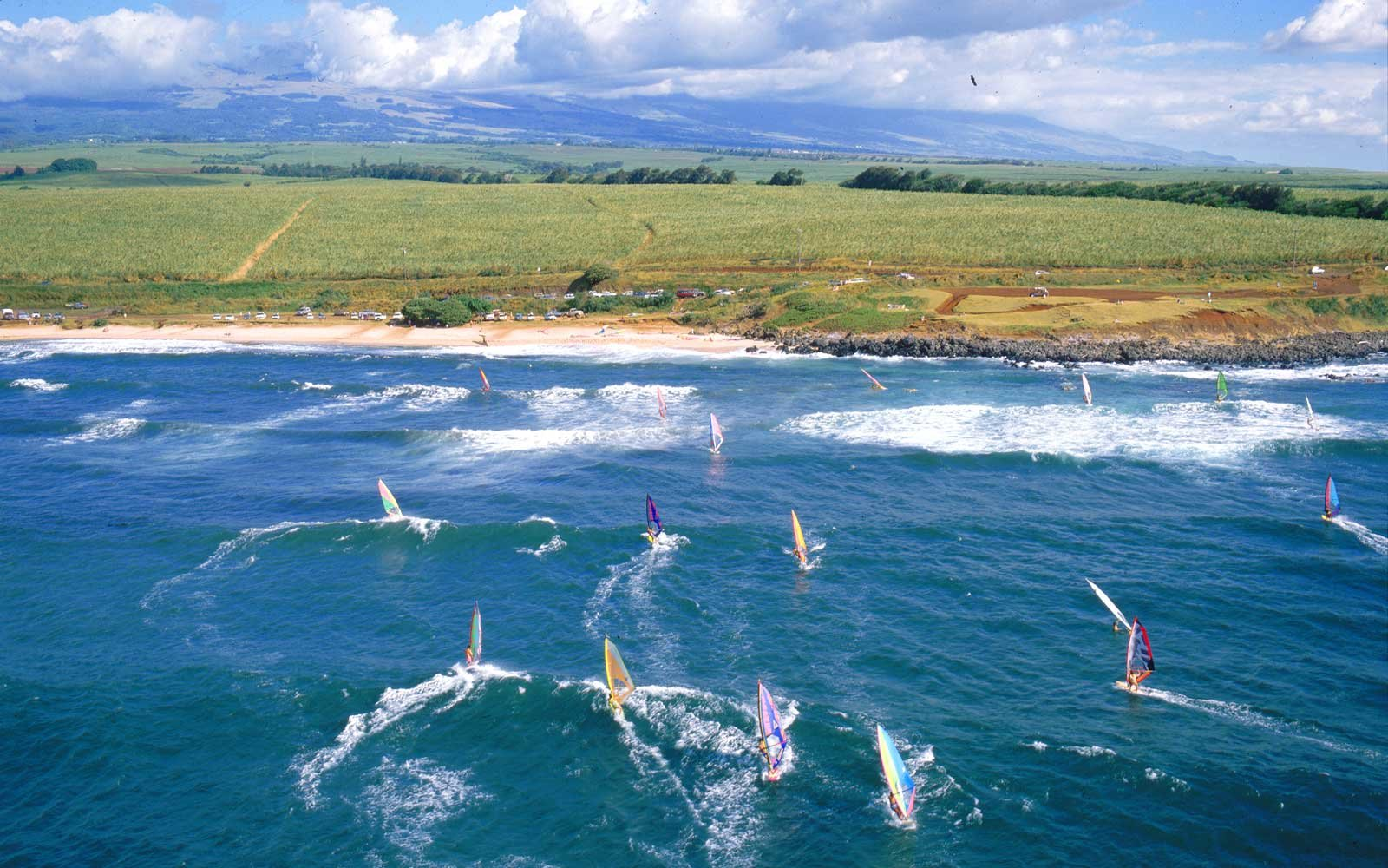 Windsurfing at Maui's Ho'okipa Beach