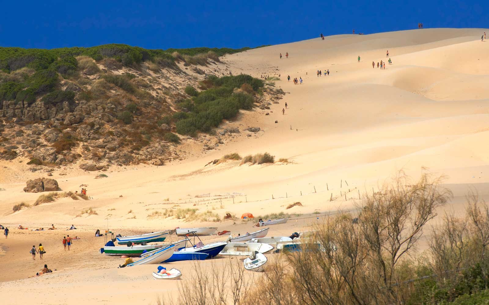 Bolonia, Beach, Dune, Strait of Gibraltar Natural Park, Costa de la Luz, Cadiz, Andalusia, Spain