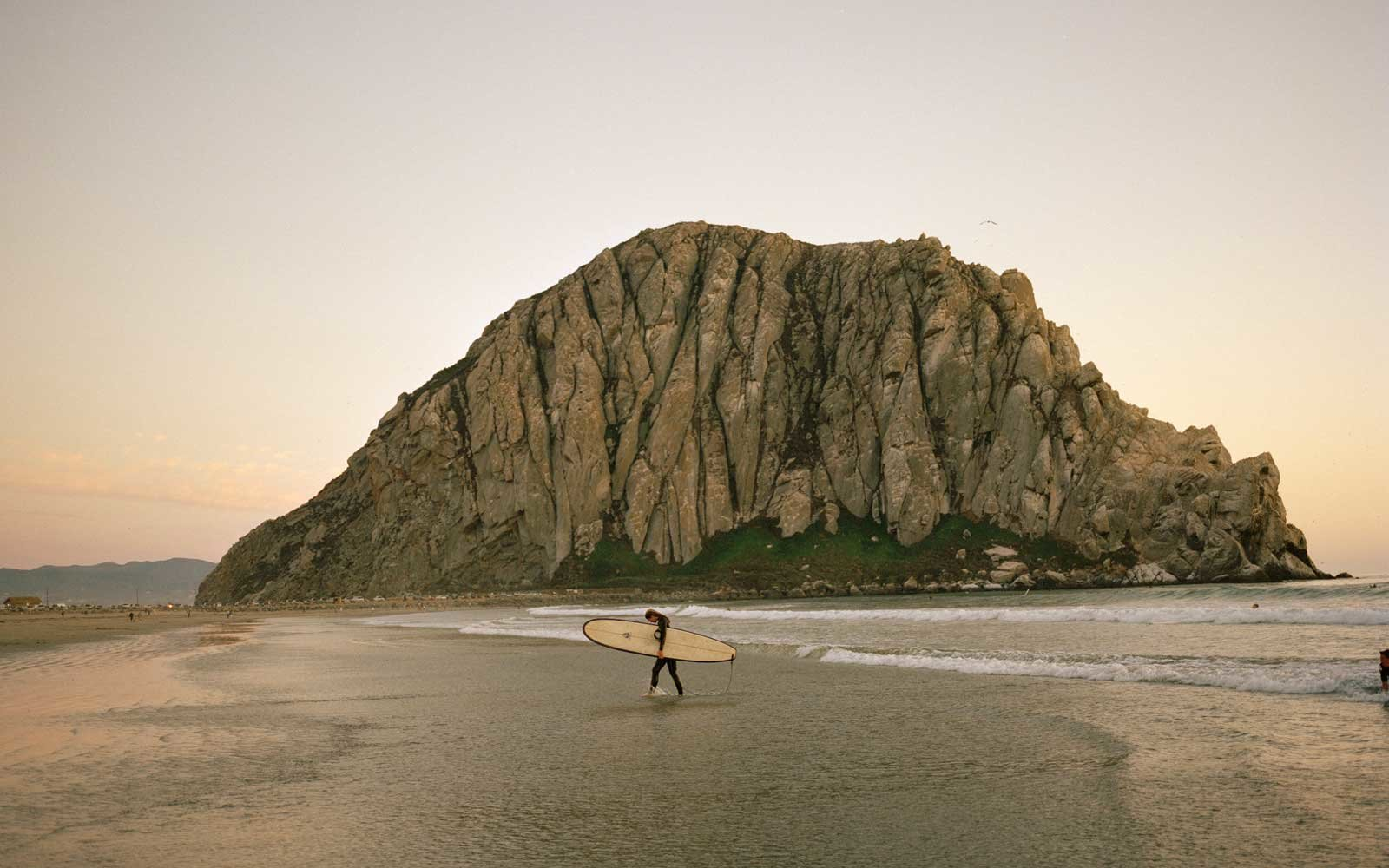 Morro Rock Beach, in Morro Bay, California