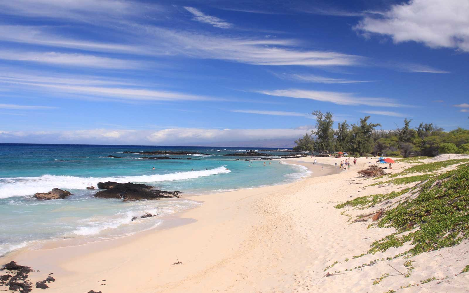 Makalawena Beach, in North Kona, Hawaii