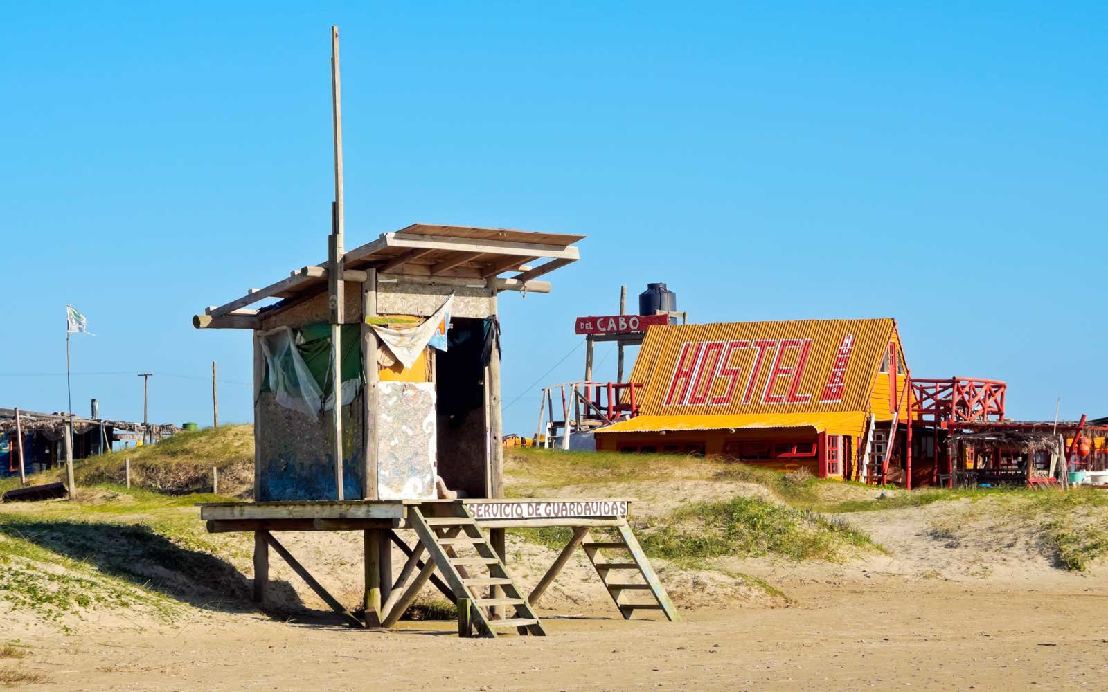 Lifeguard tower in Cabo Polonia, Uruguay