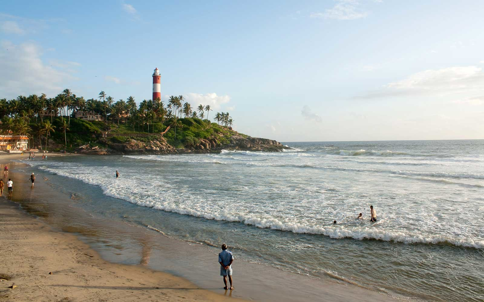 Light House Beach in Kovalam, india