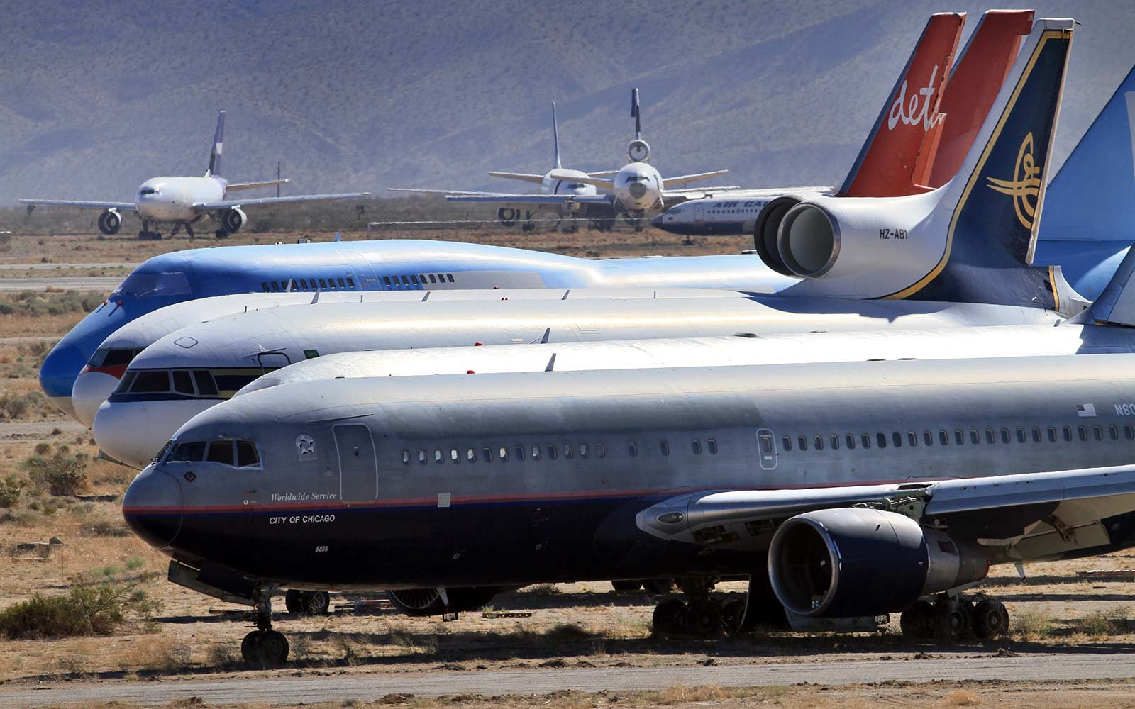 Southern California Logistic Airport Victorville Commercial Airplane Graveyard