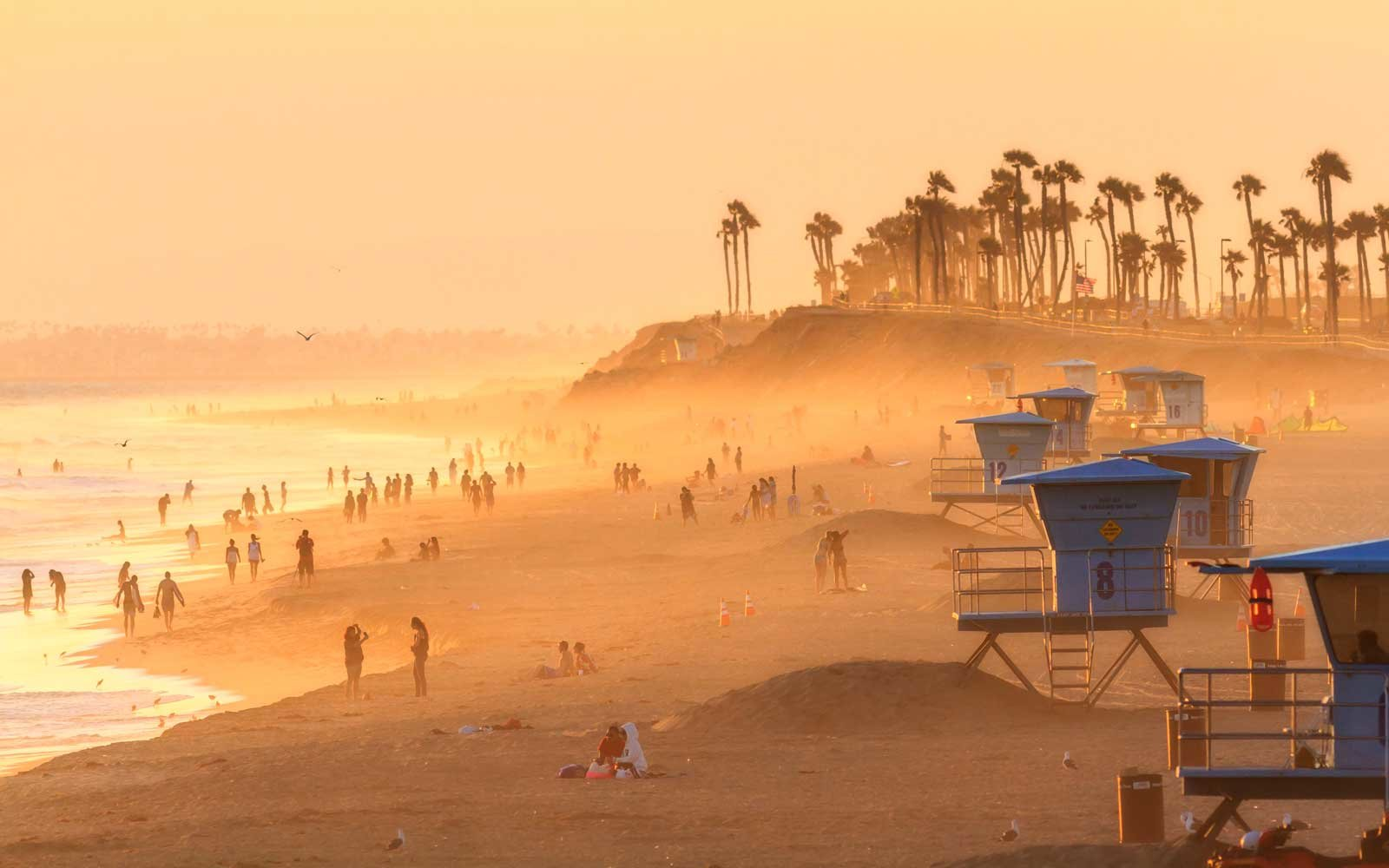 Huntington Beach, California, in summer