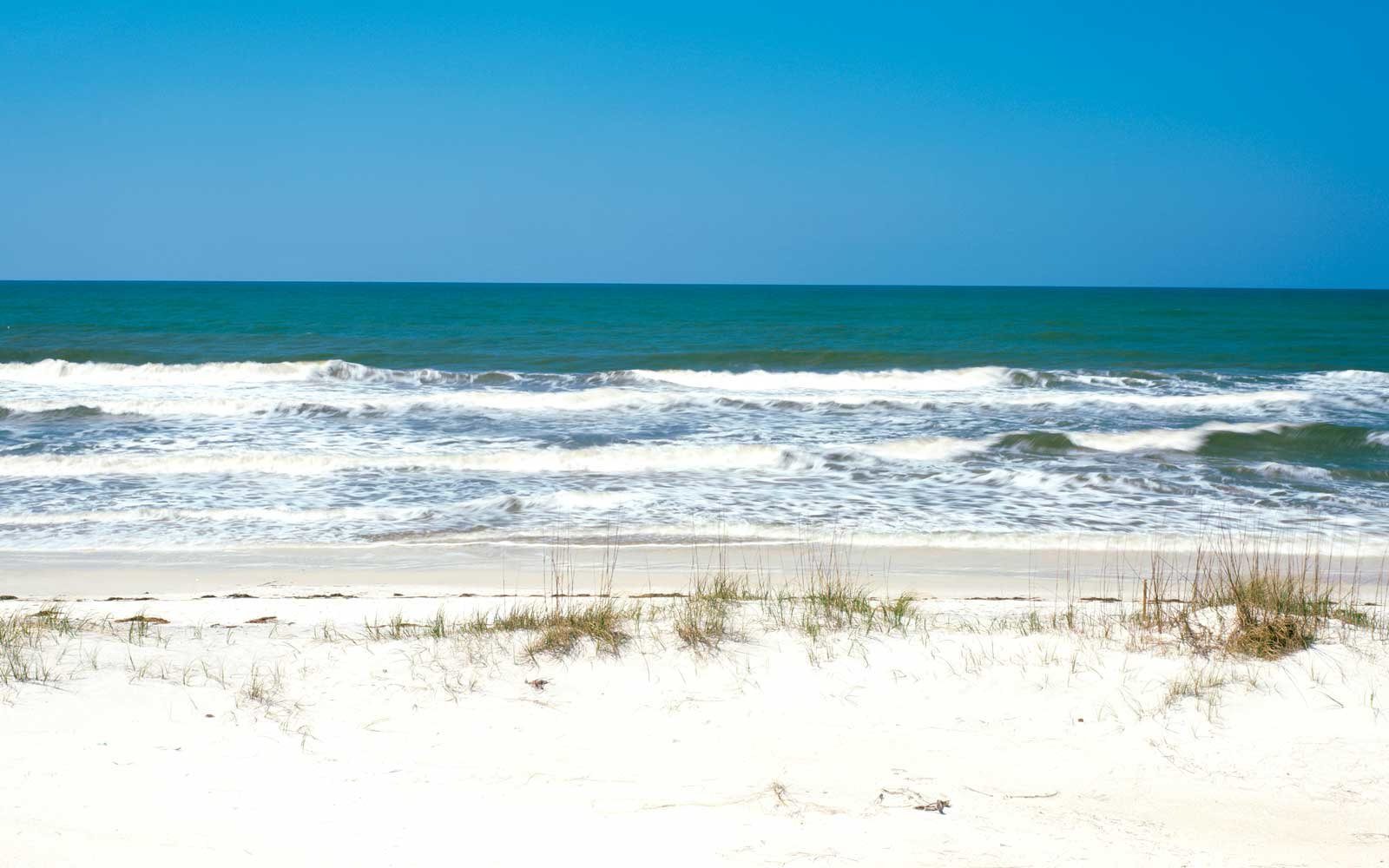 Blue sky over the sea, St. Joseph Peninsula State Park, Florida