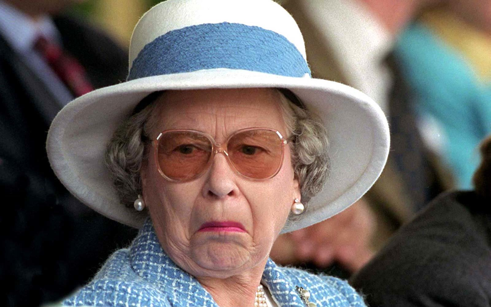 Queen Elizabeth UK not amused expression