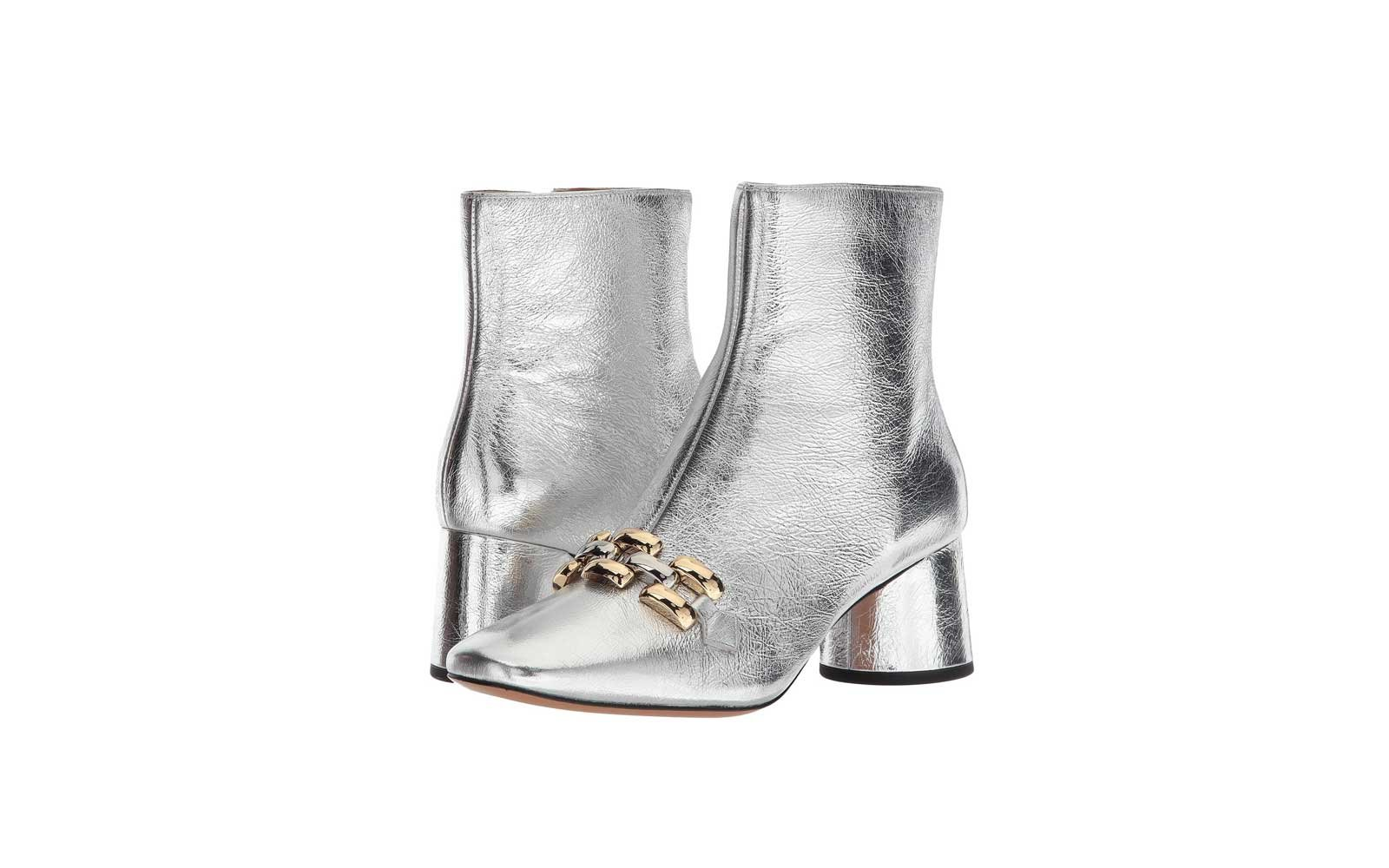 Marc Jacobs Remi Chain Link Ankle Boot in Silver