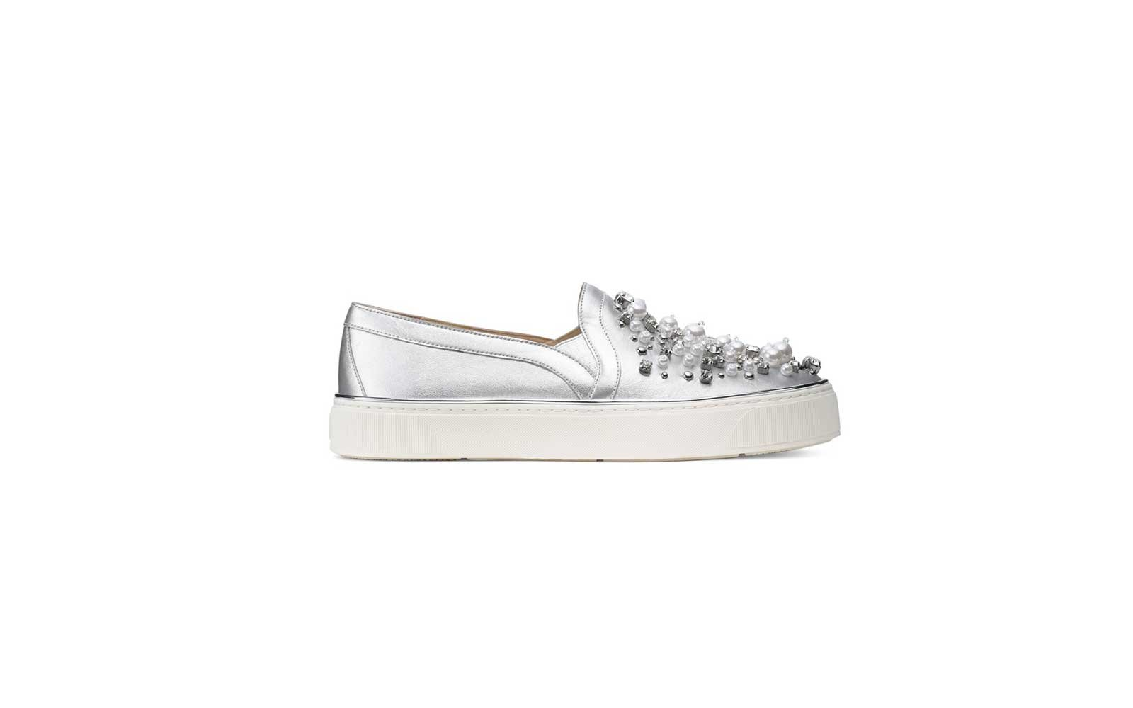 Stuart Weitzman The Décor Sneaker in Silver