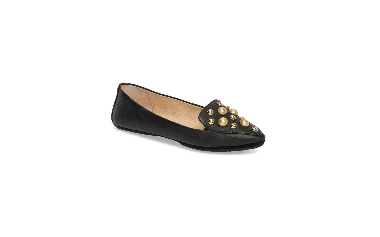 Yosi Samra Vera Studded Loafer in Black