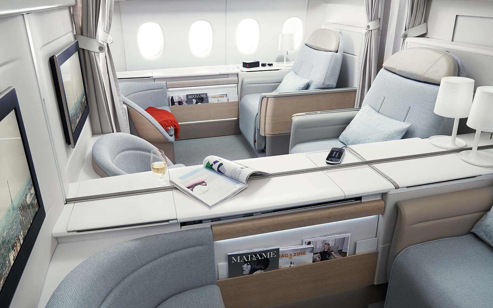 Air France La Premiere First Class Cabin Airplane