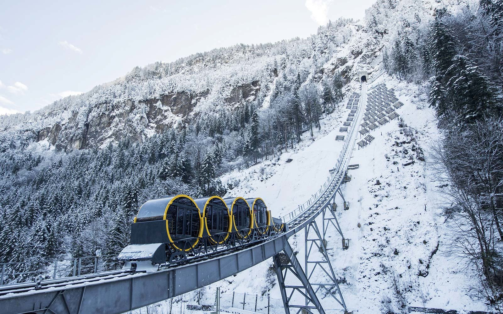 The World S Steepest Funicular Connects Two Gorgeous Swiss