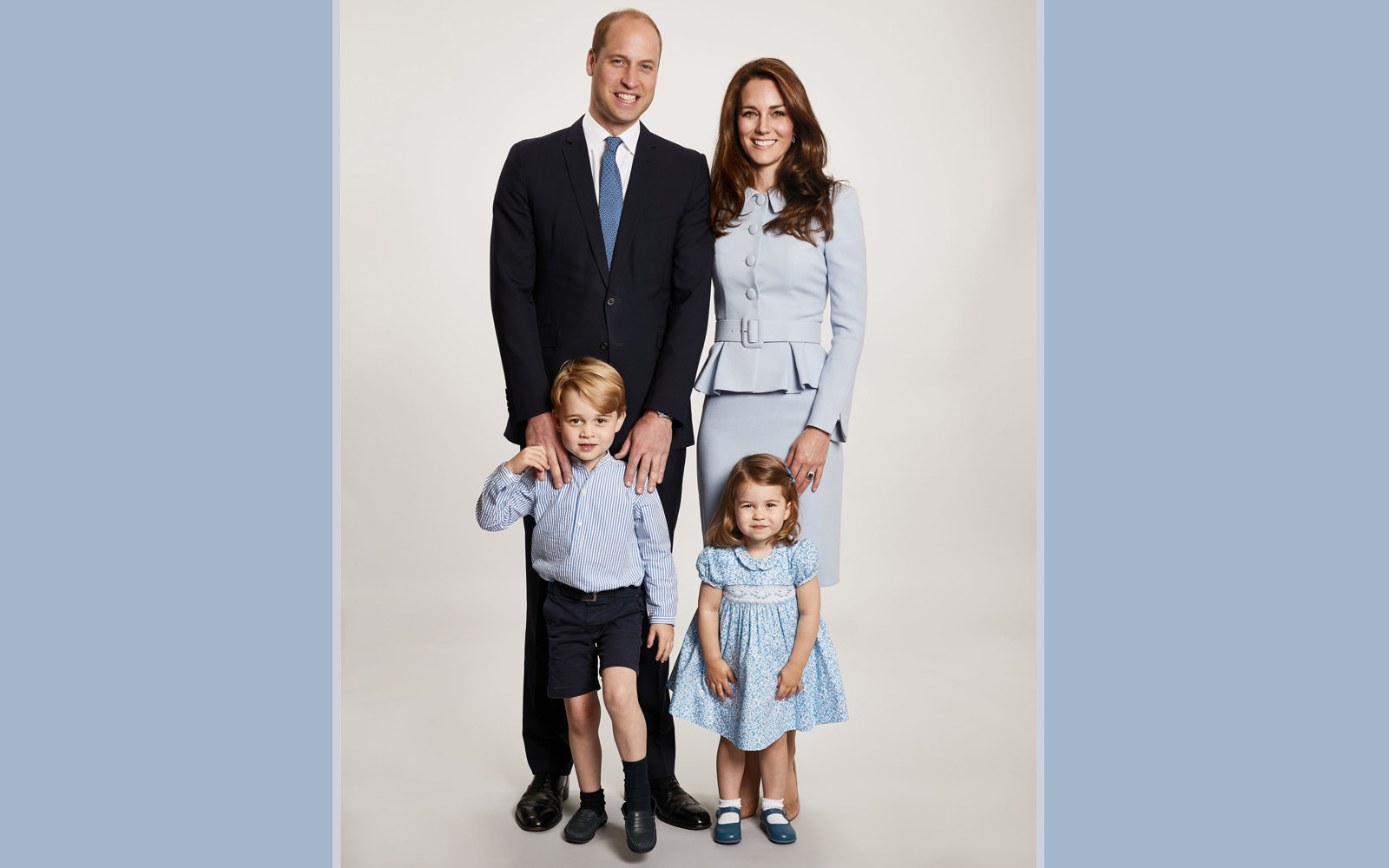 Kate Middleton's Having A Baby Boy Says Very Blue Holiday Card