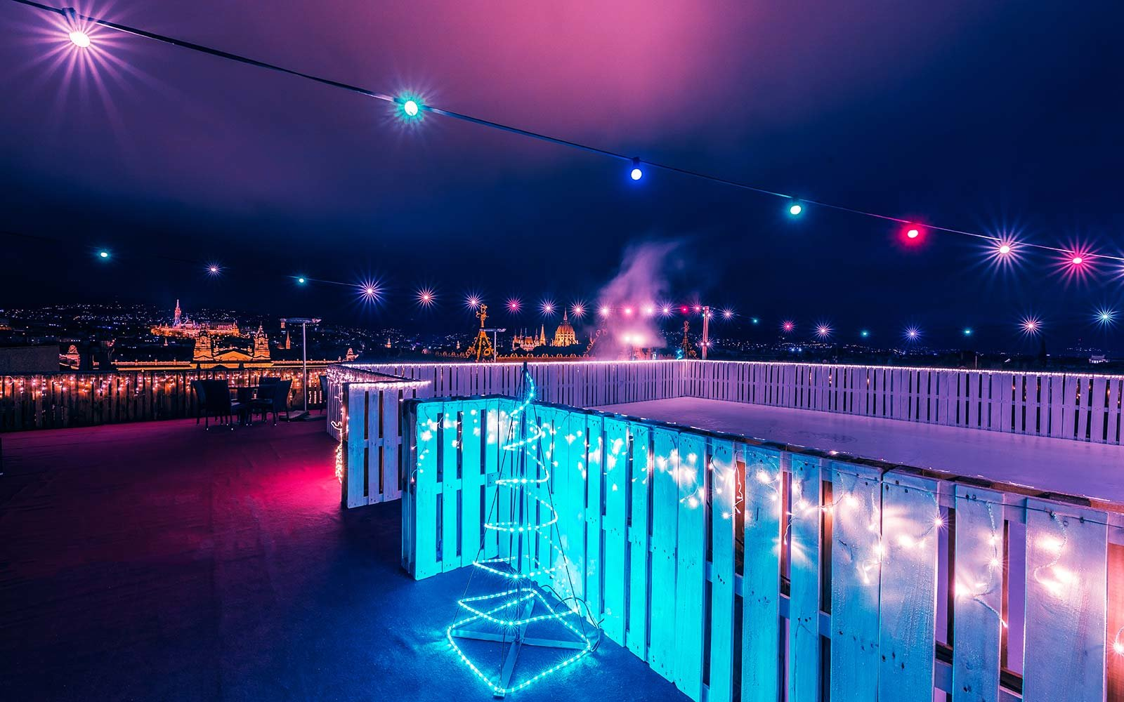 You Can Go Ice Skating On This Hotel Rooftop In Budapest