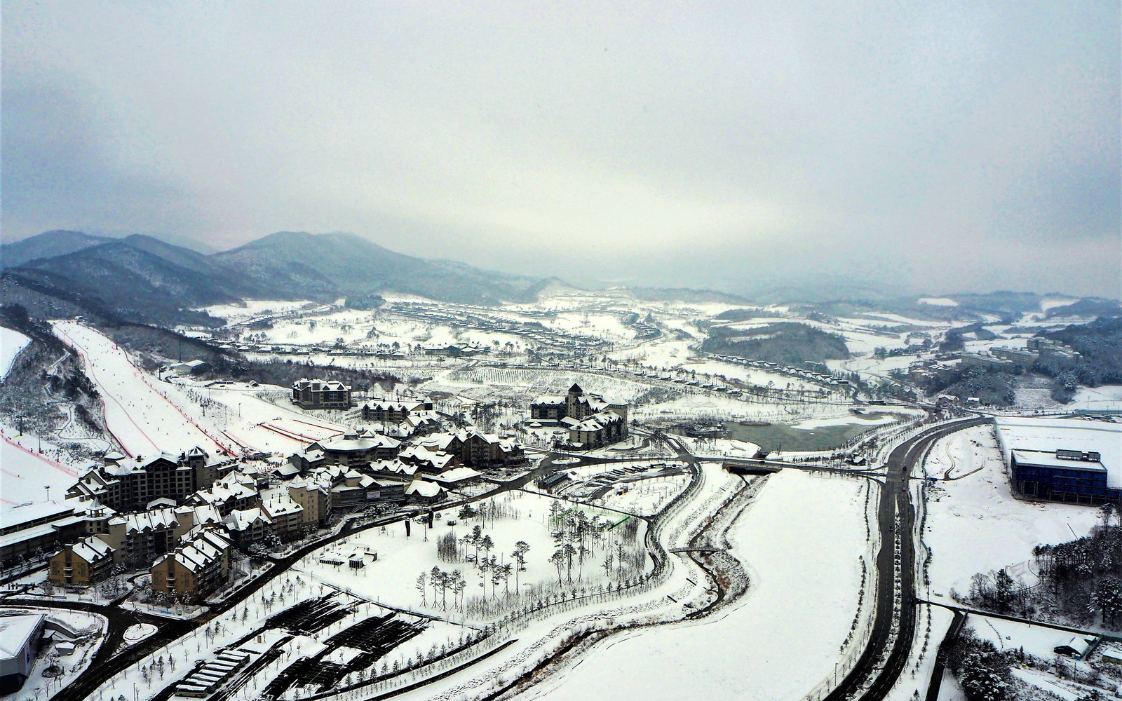 Pyeongchang South Korea winter time