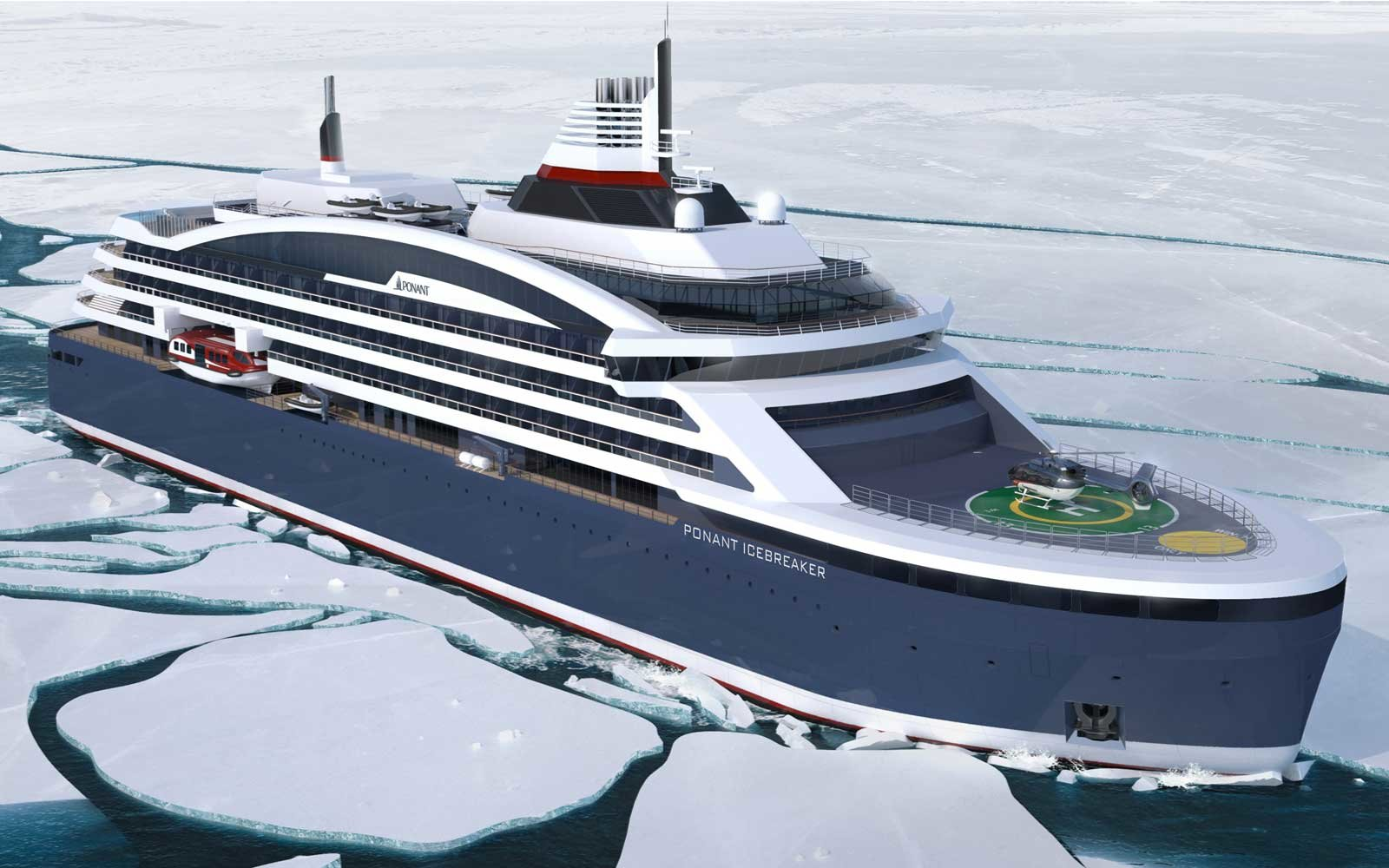 Ponant's New Icebreaker Cruise Ship Can Sail Through 8-foot