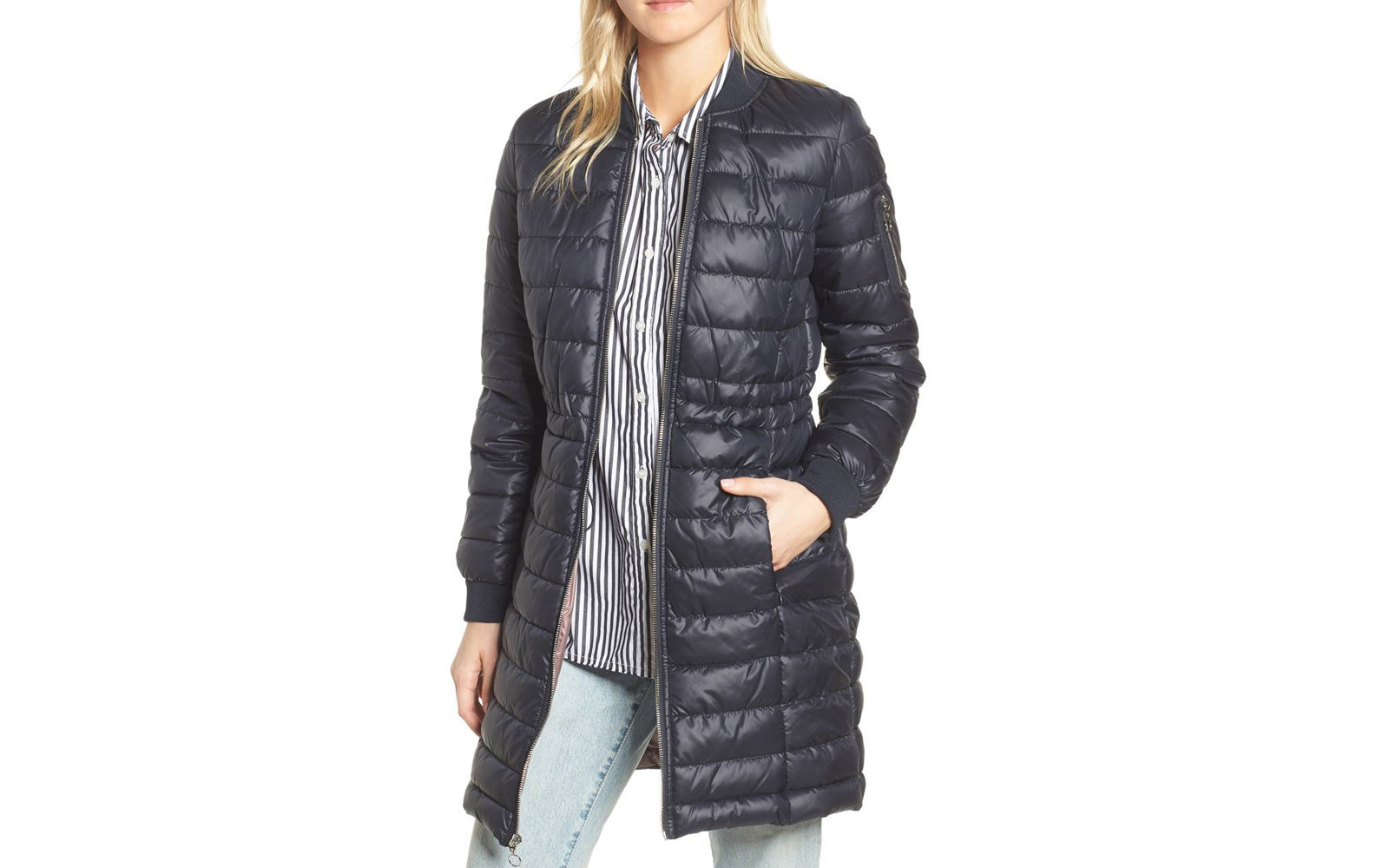 Nordstrom Kenneth Cole New York Lightweight Quilted Puffer Jacket