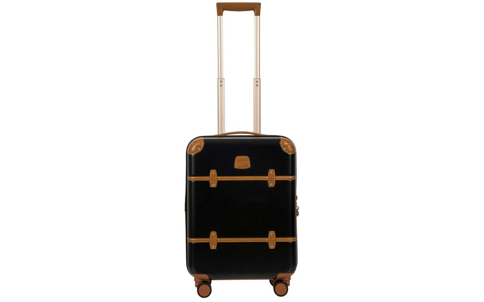 Bric's black and tan vintage-look suitcase