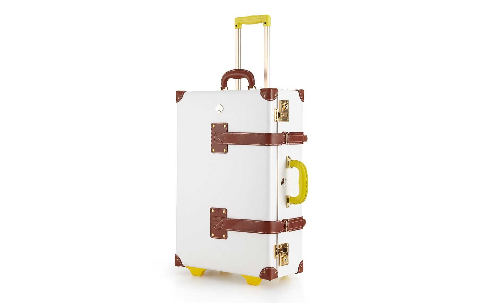 Kate Spade white vintage-look suitcase