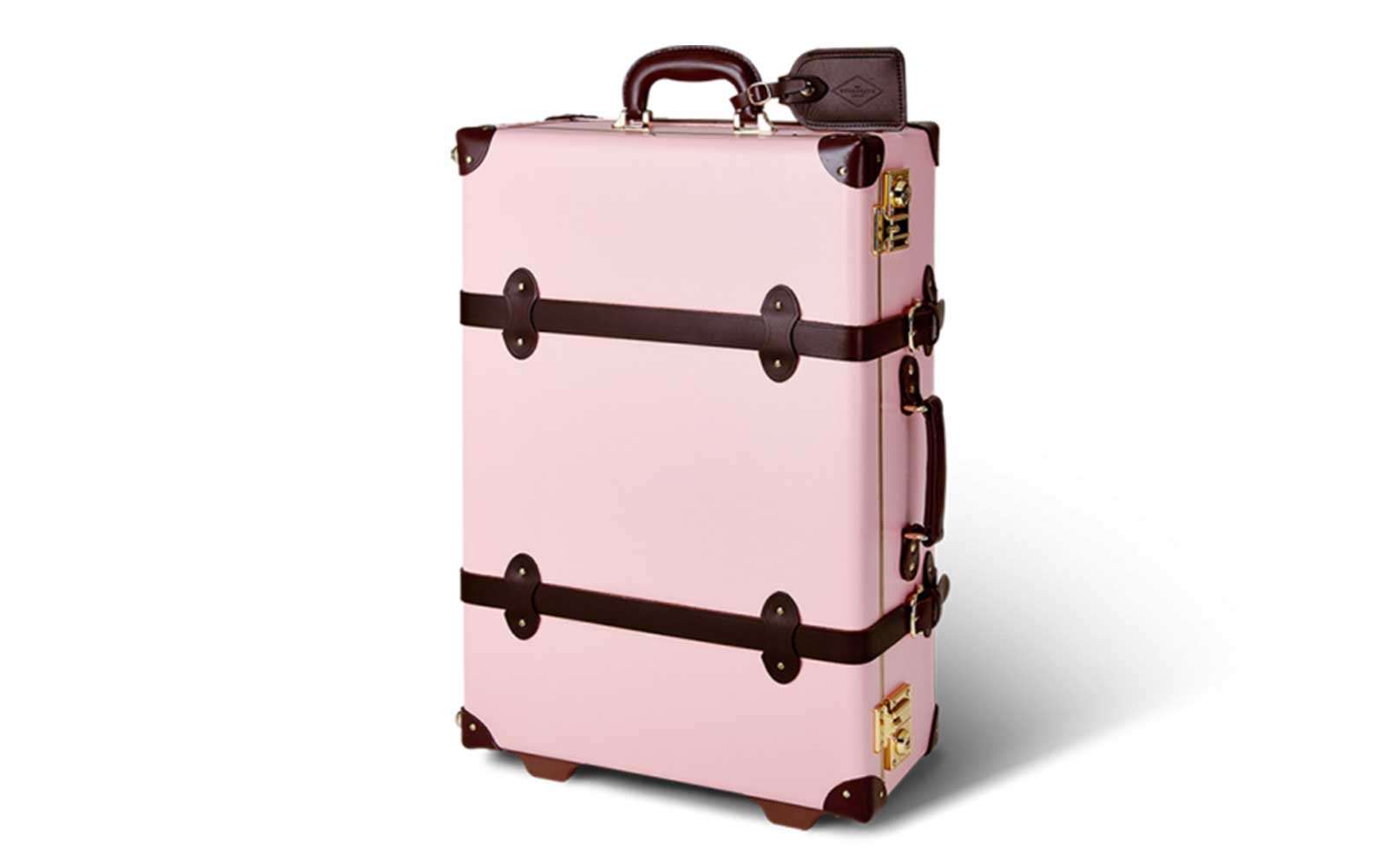 Pink and brown Steamline luggage