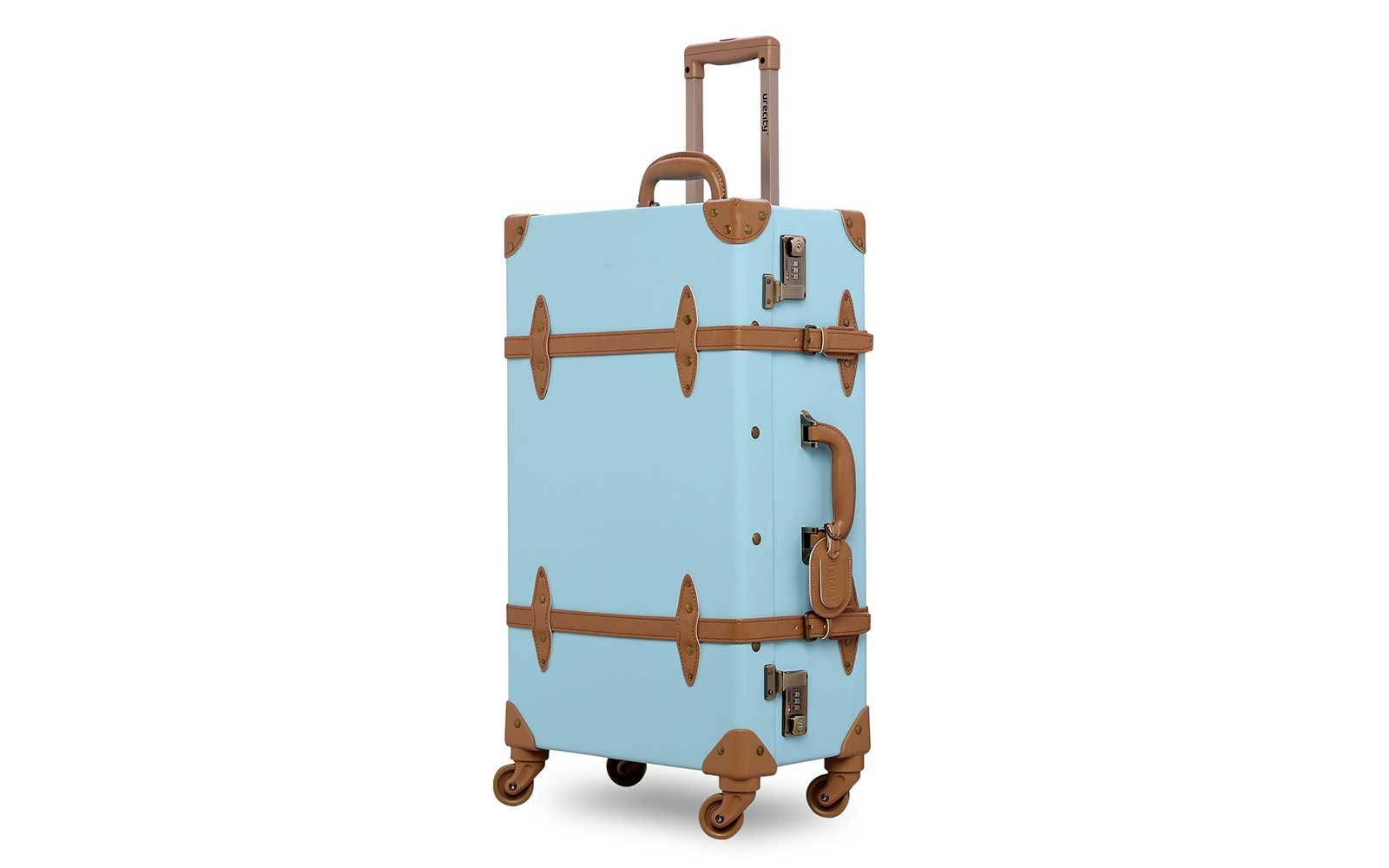 Robins egg blue vintage-look suitcase