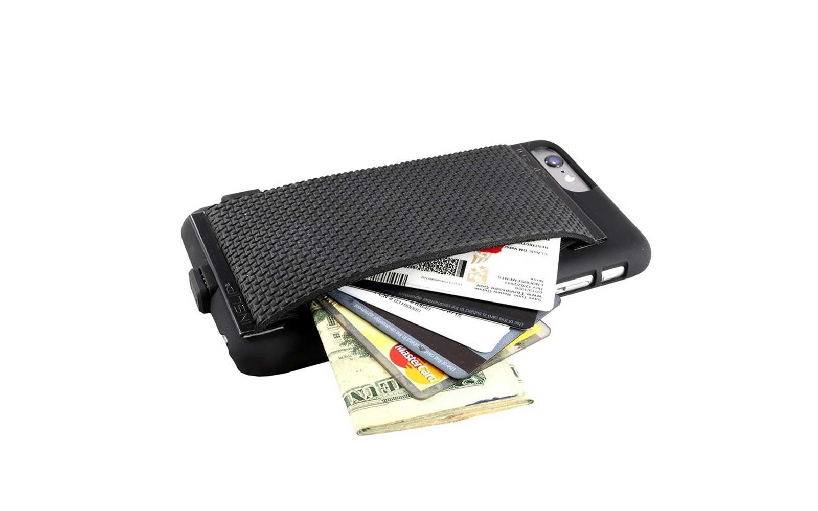 HidInslip Sharkskin Phone Strap Wallet