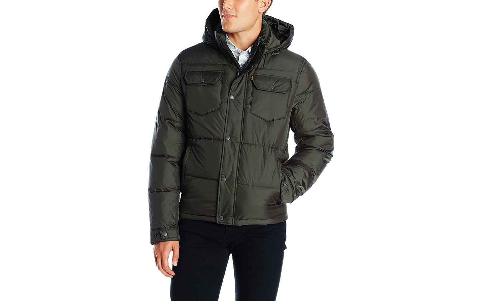 Levi's Men's Two-Pocket Puffer Hooded Jacket