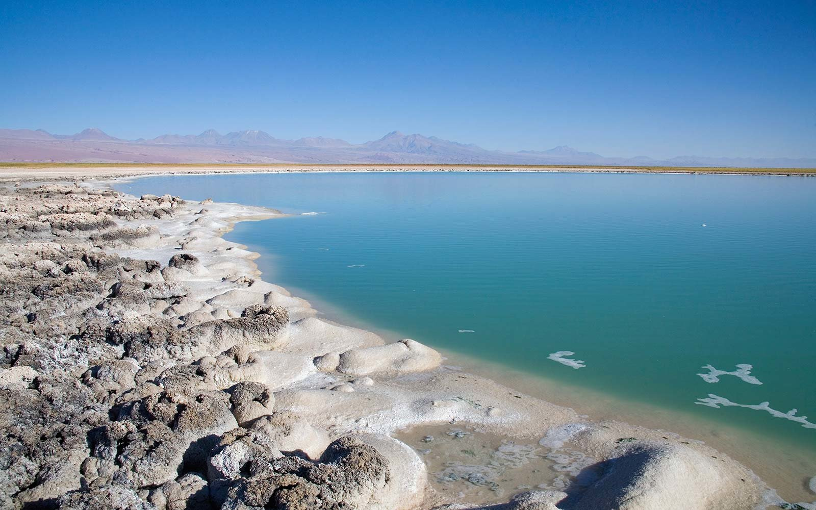 See a massive salt lake.