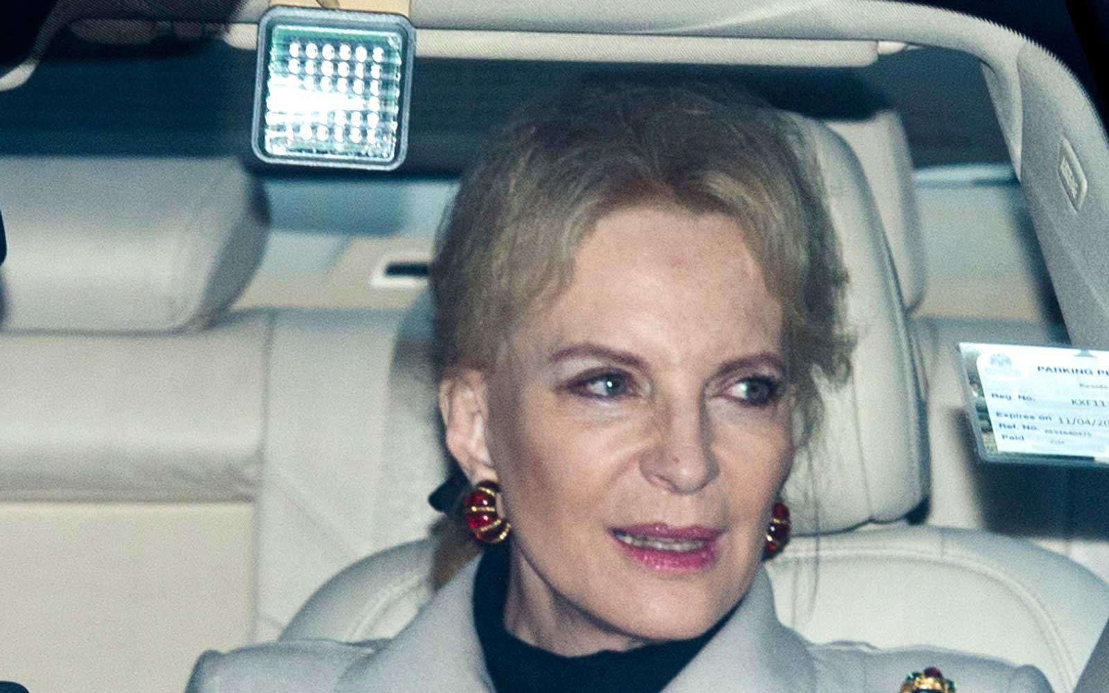Princess Michael of Kent attends a Christmas lunch for the extended Royal Family at Buckingham Palace