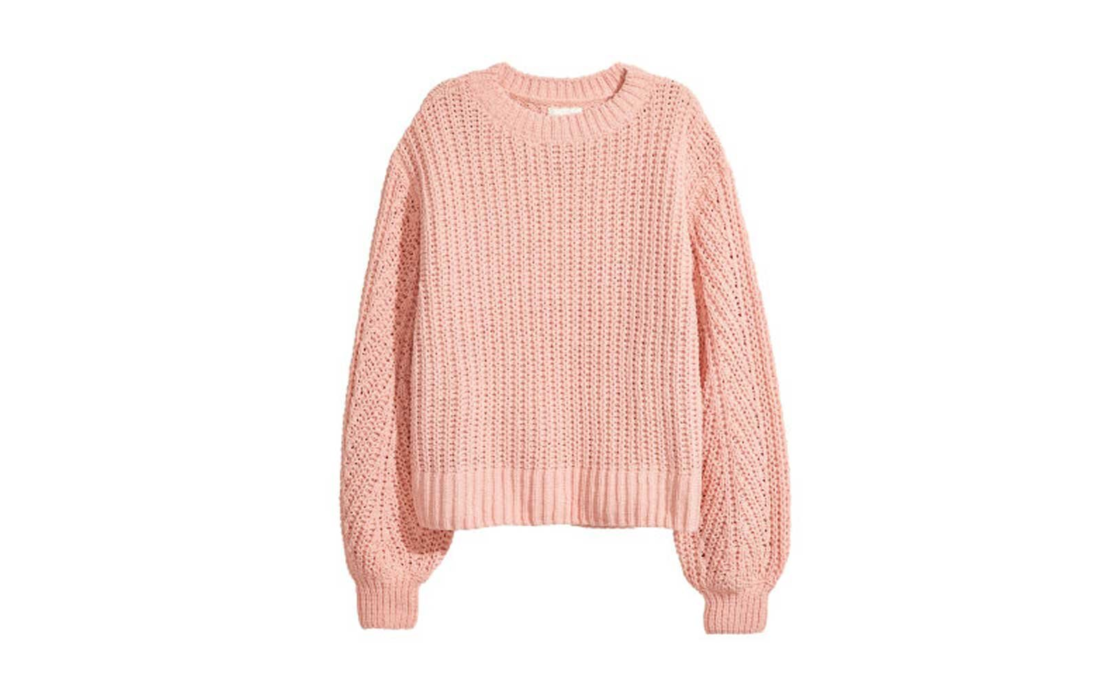 1e078be5a910d H&M Loose-knit Sweater in Powder Pink. Oversized comfortable sweater