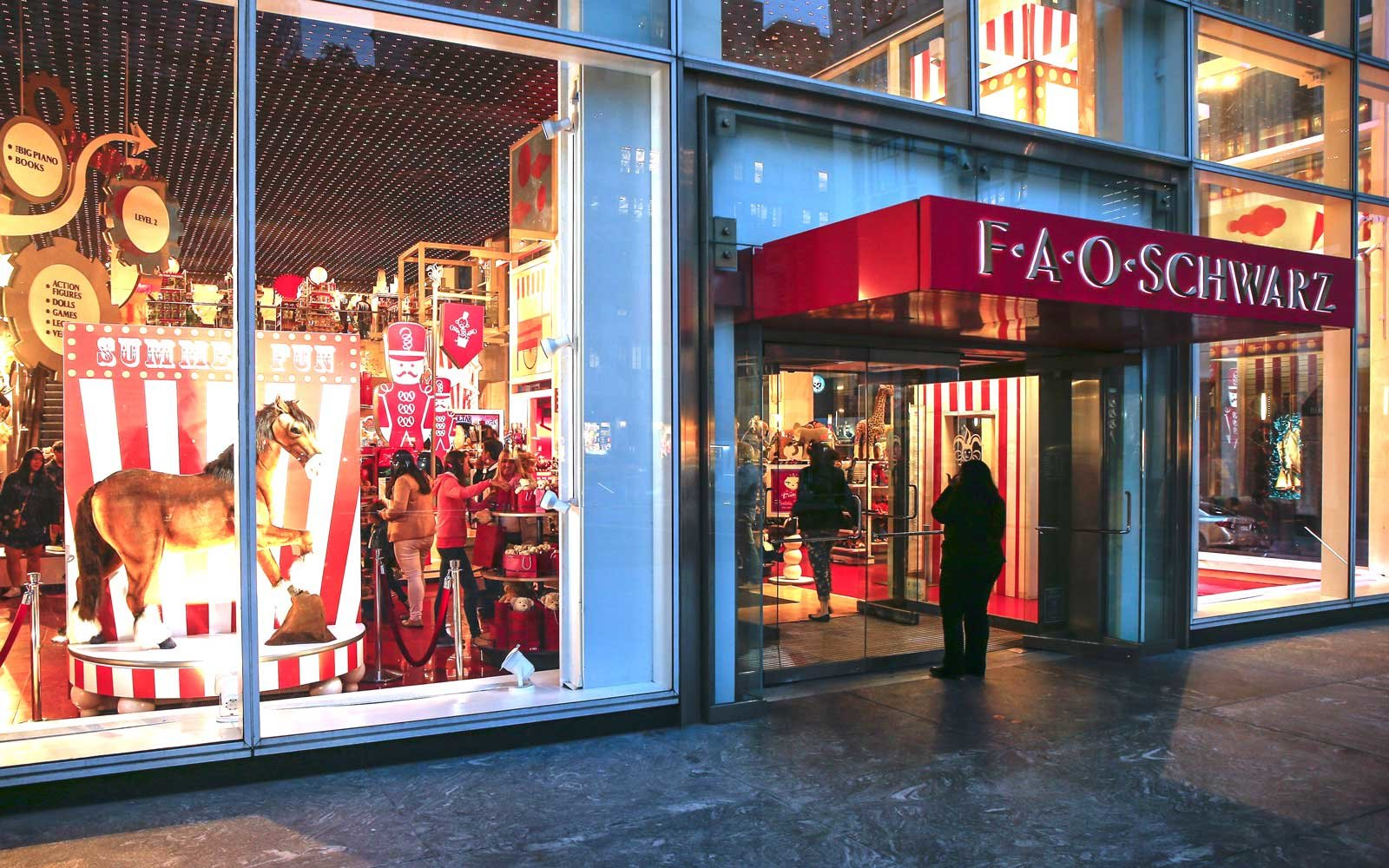 FAO Schwarz toy store in New York