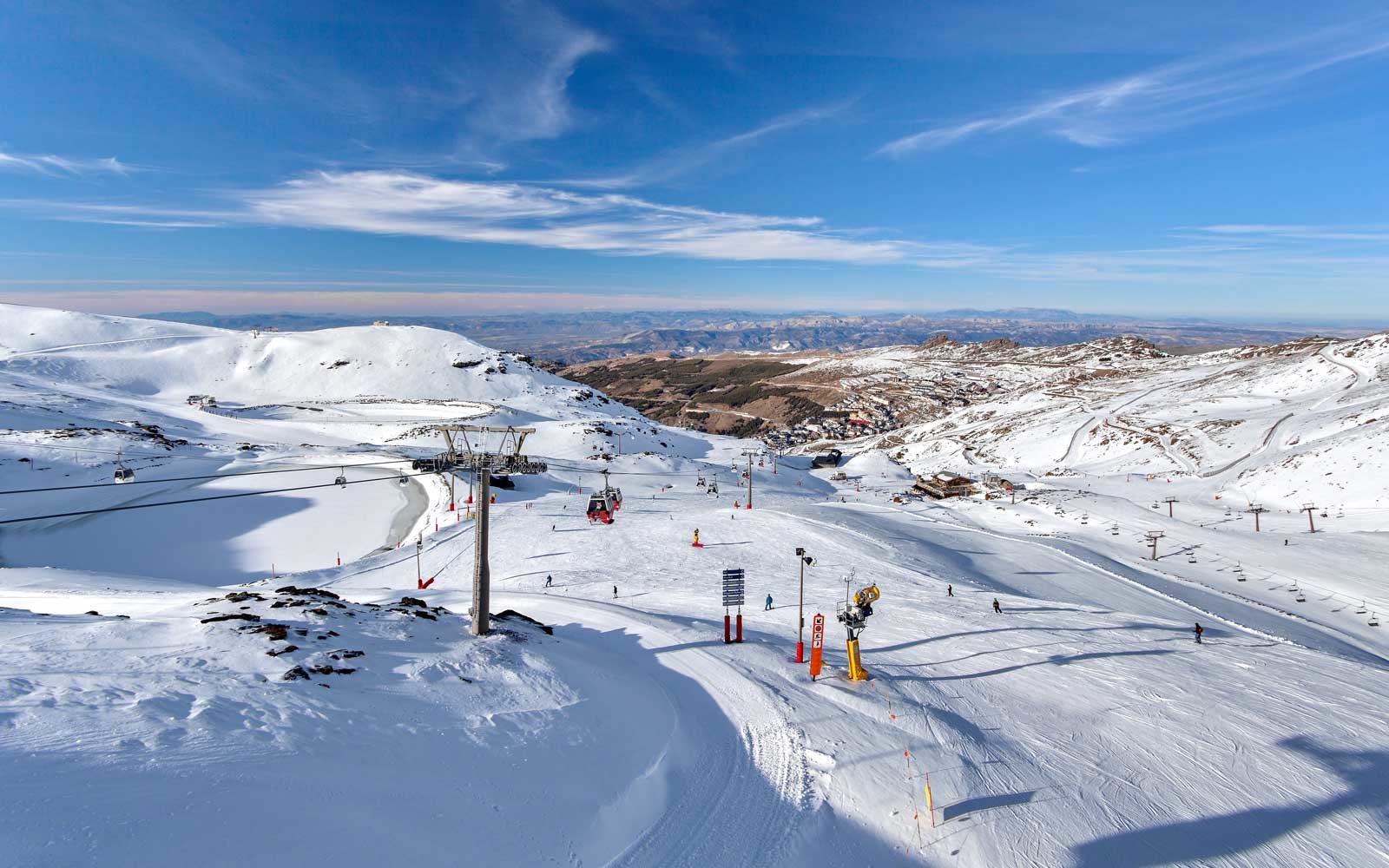 Mountain skiing - Pradollano, Sierra Nevada, Andalusia, Spain