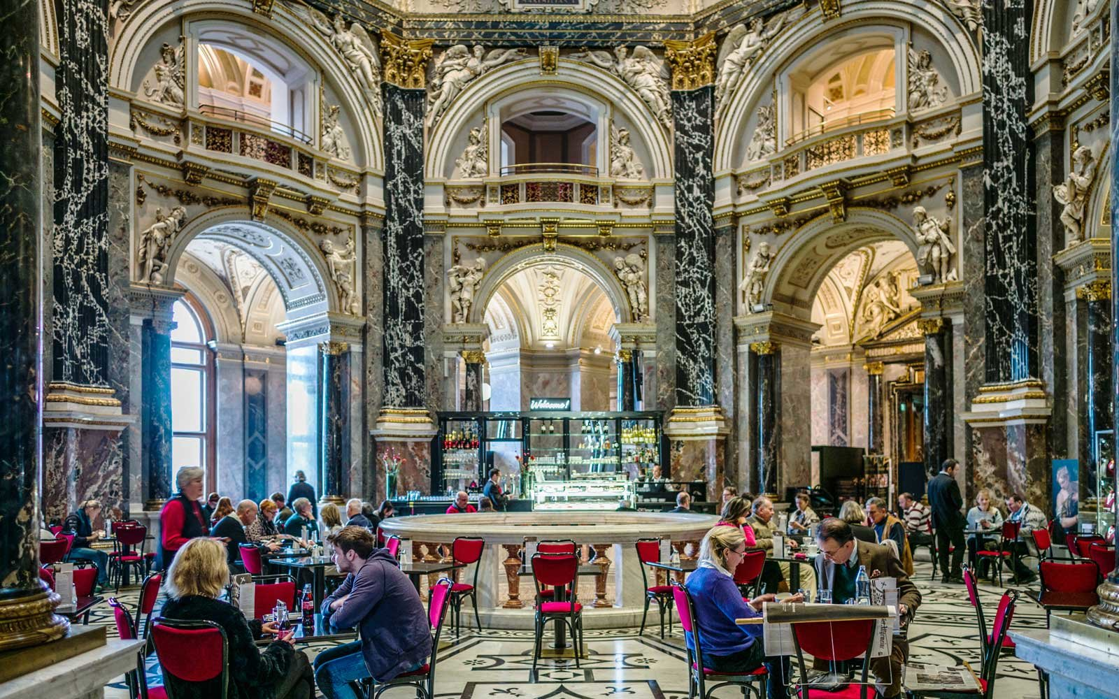 Cafe at the Kunsthistoriches Museum in Vienna, Austria