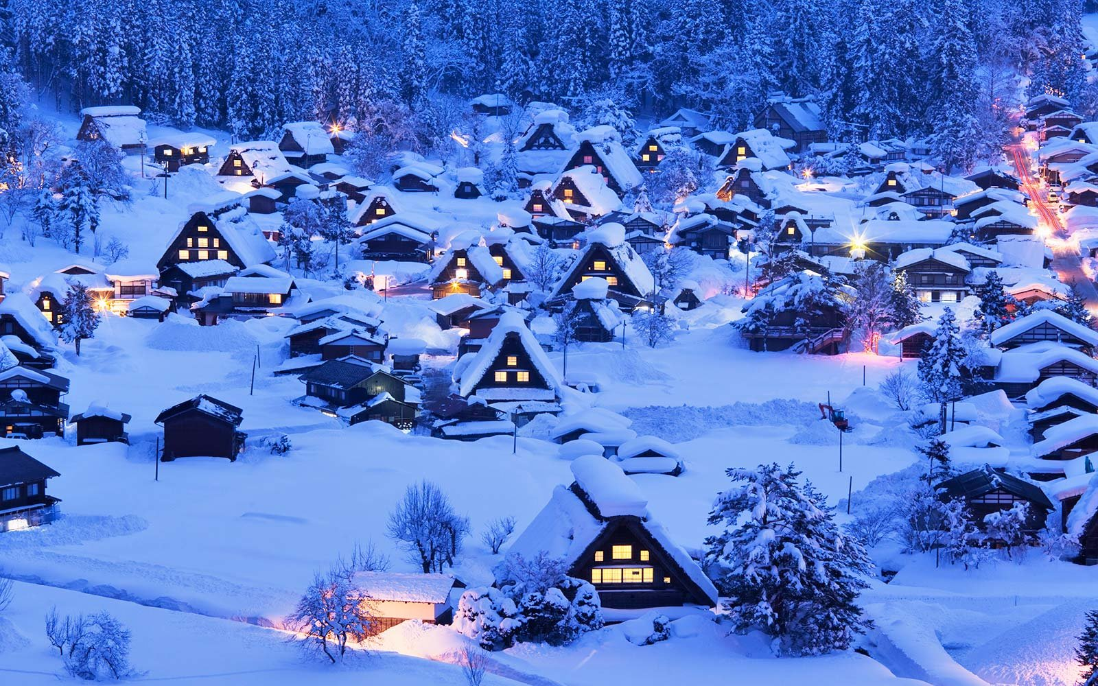 Shirakawa-Go Village Snow Winter Snowfall Record Japan
