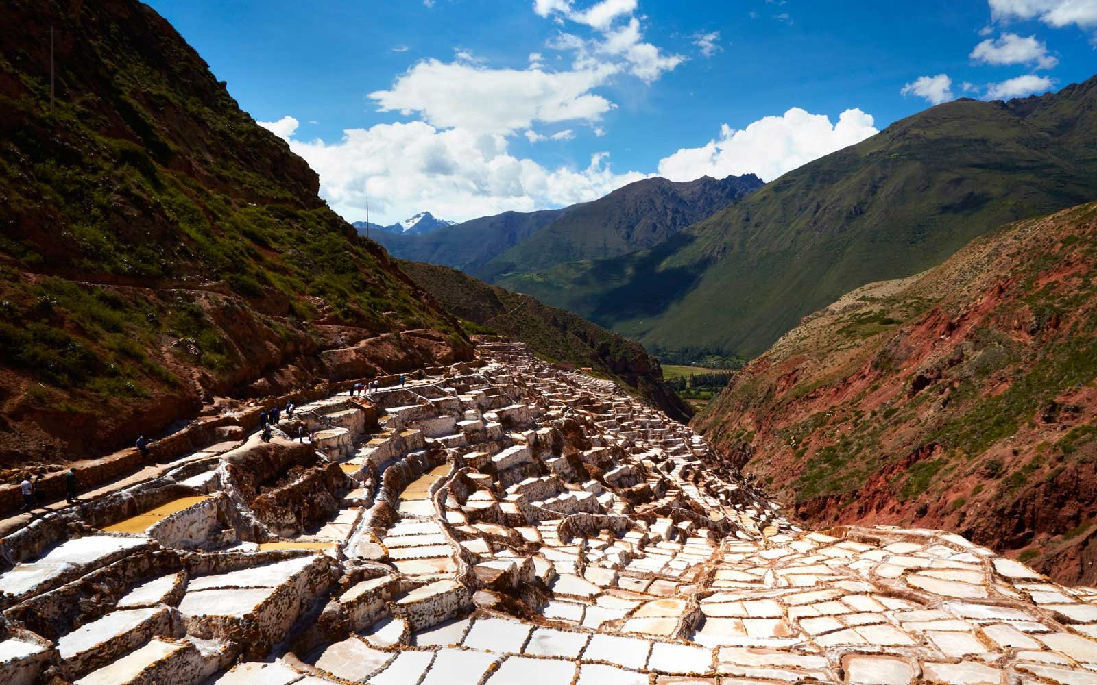 Salt ponds in Maras, Peru