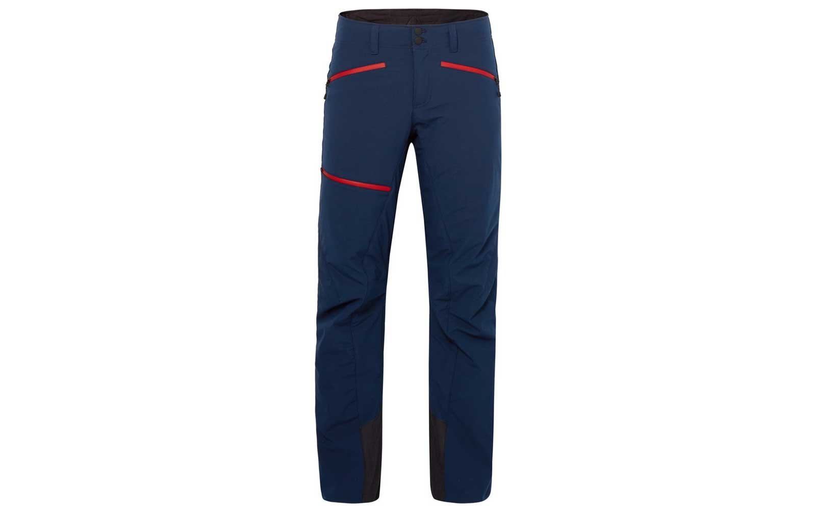 Red and blue ski pants by Bogner
