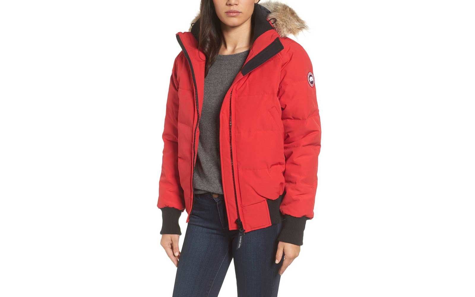 Red Canada Goose bomber jacket