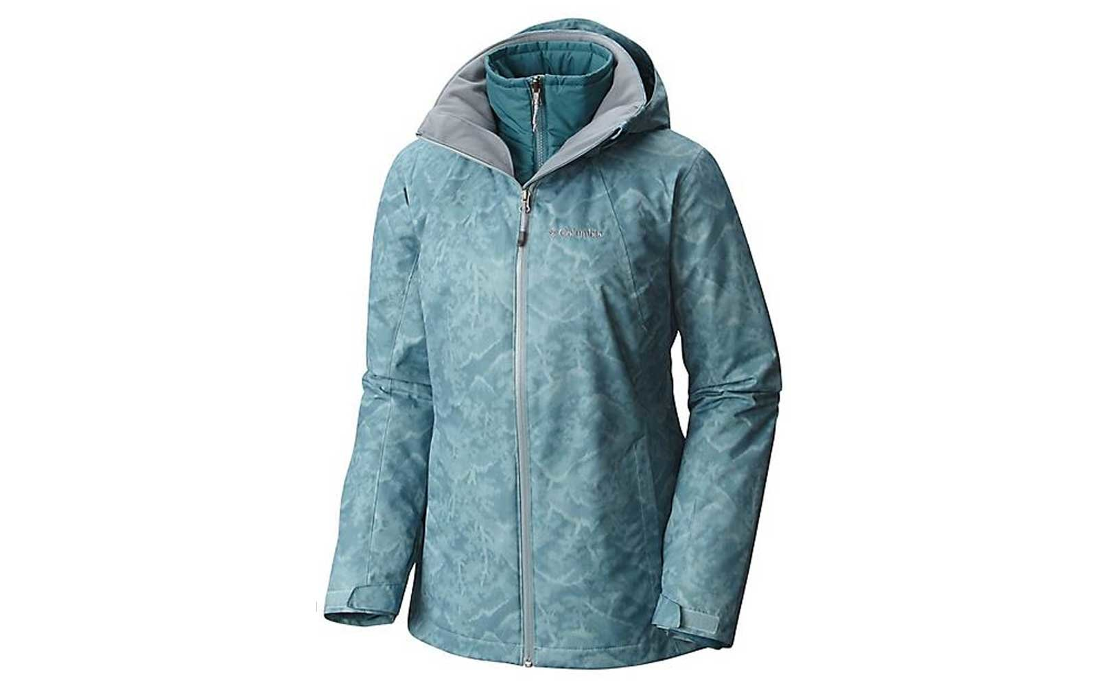 Blue Stone Print ski jacket by Columbia