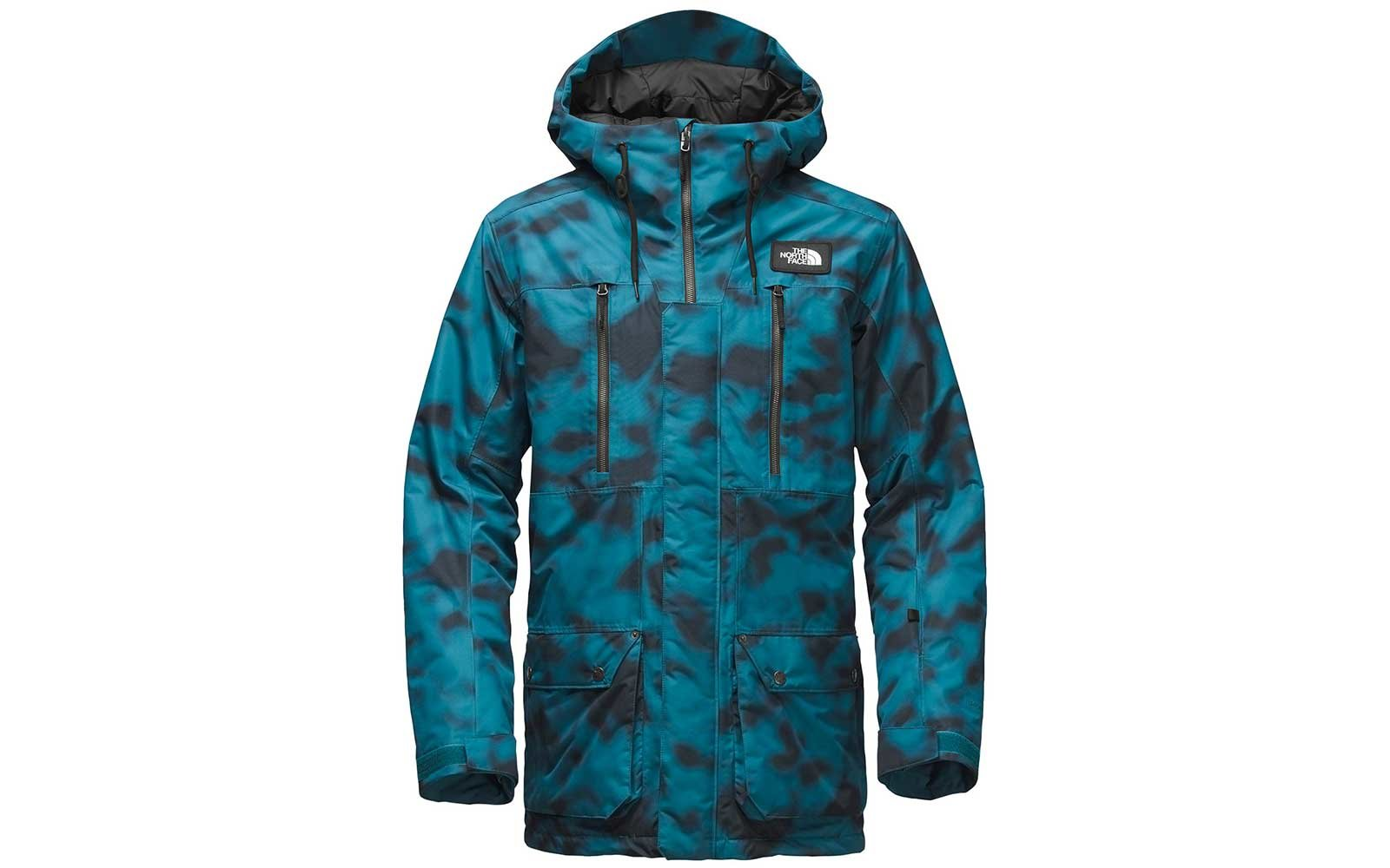 Teal print ski jacket by The North Face
