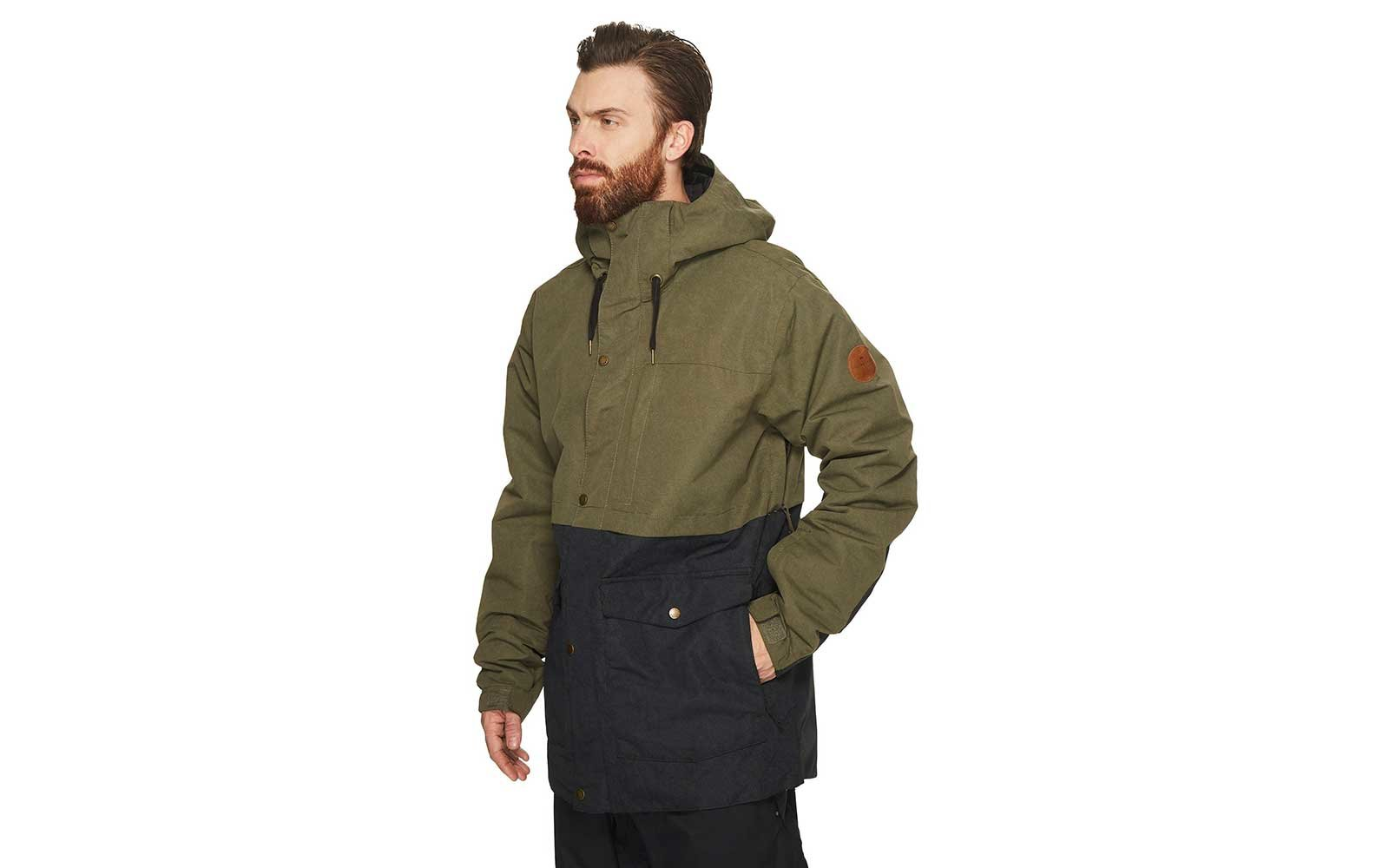 Green snow jacket from Quiksilver