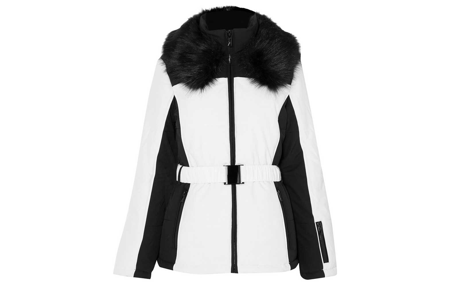 Black and white ski jacket by Topshop