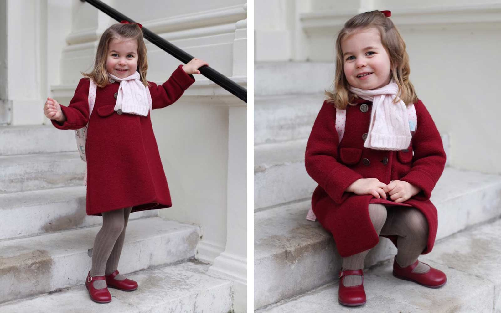 Princess Charlotte at her first day of nursery